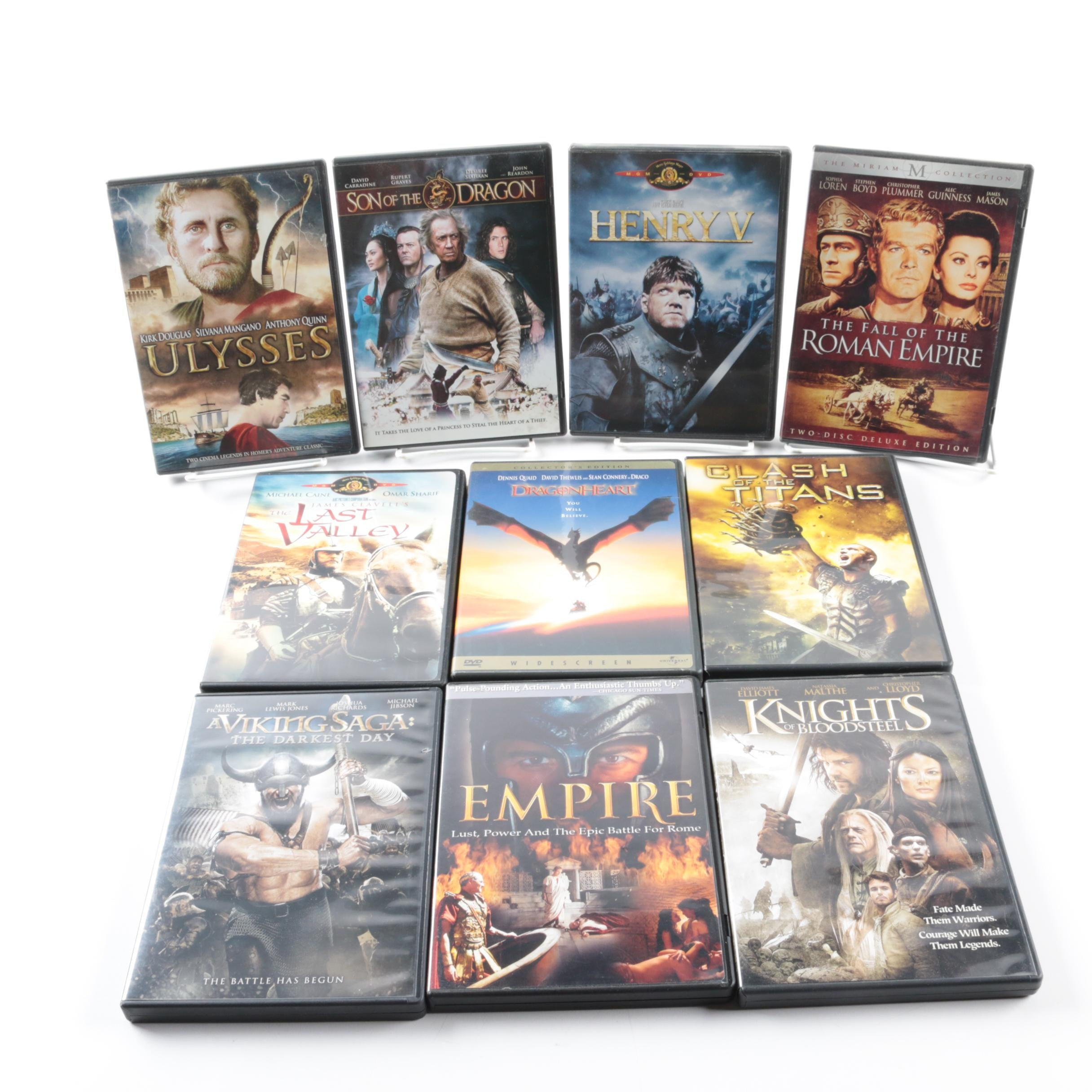 "Classical and Medieval Themed Films on DVD Including ""Henry V"" and ""Ulysses"""