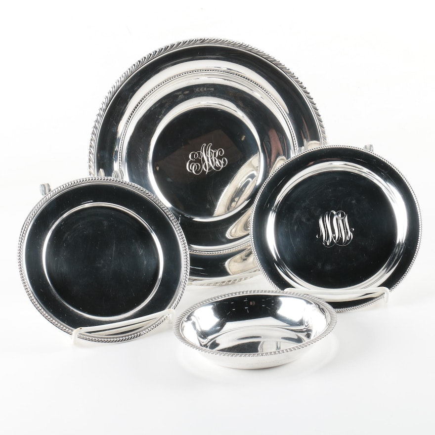 Gorham Sterling Silver Sandwich Plate and Other Sterling Tableware ...