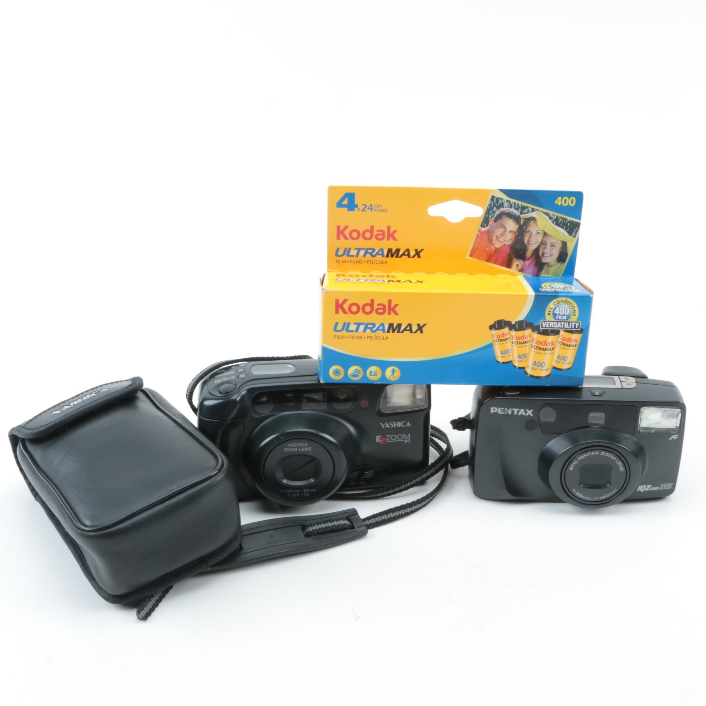 Pentax and Yashica Cameras with Kodak UltraMax Film