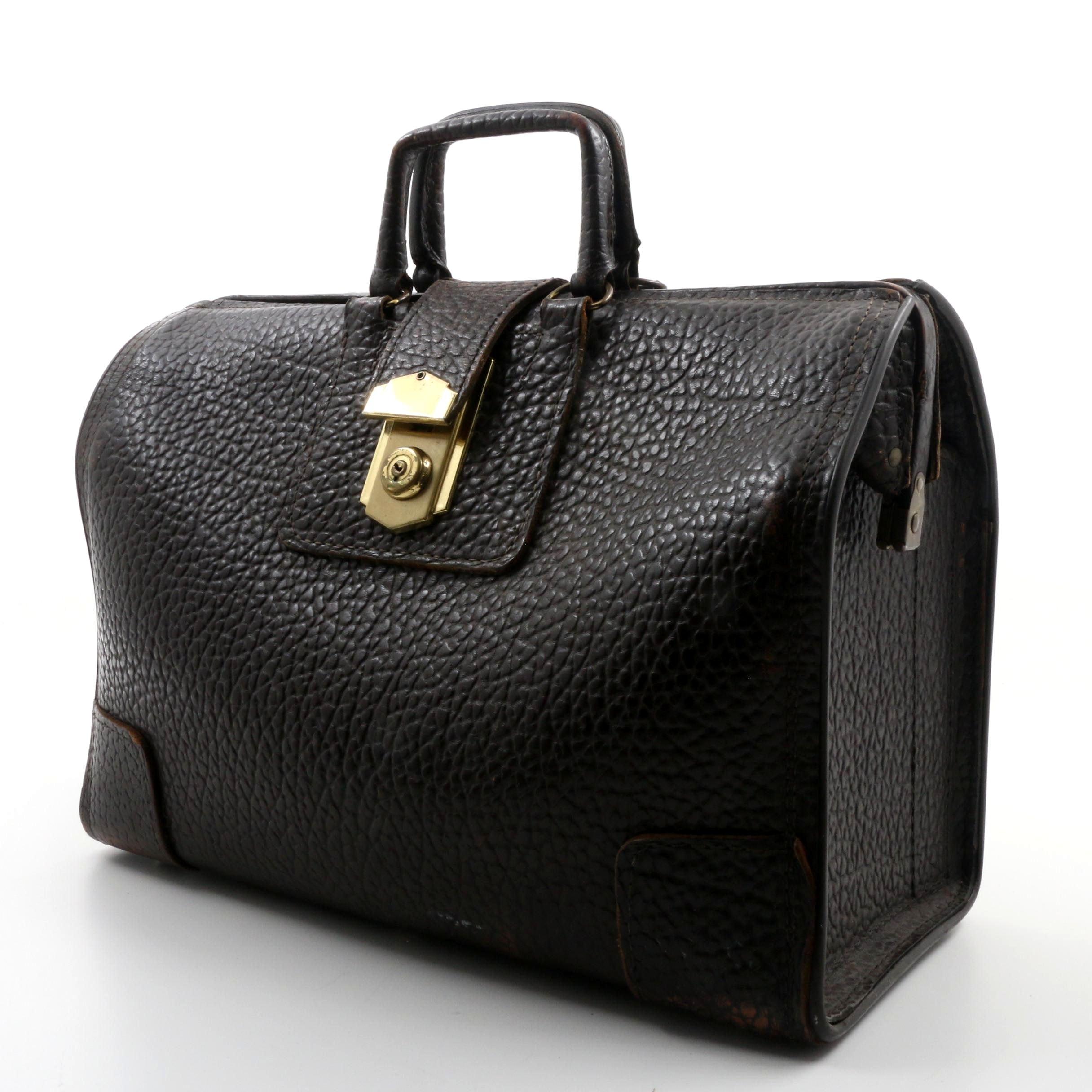 Vintage Buffalo Leather Doctor Bag
