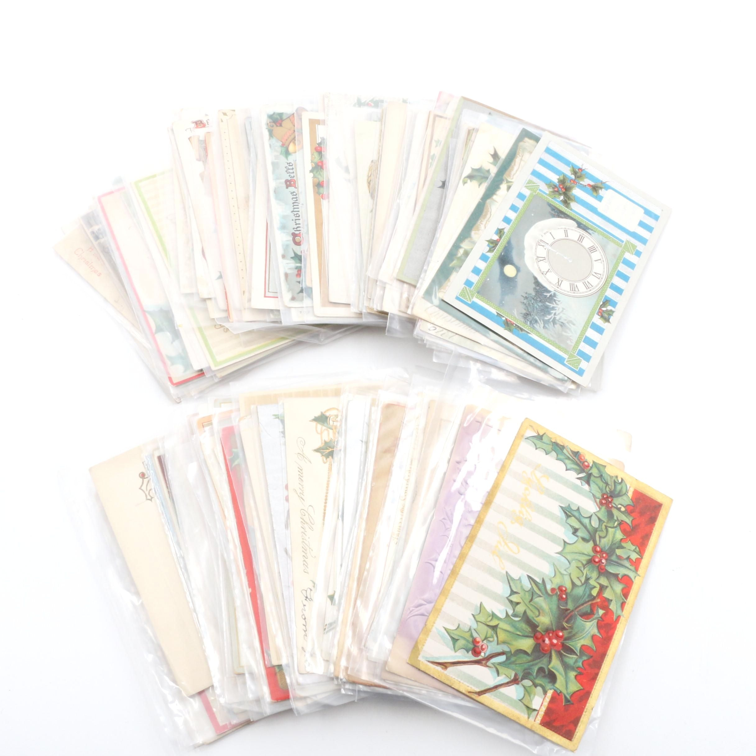 Vintage Christmas and New Year's Greeting Cards