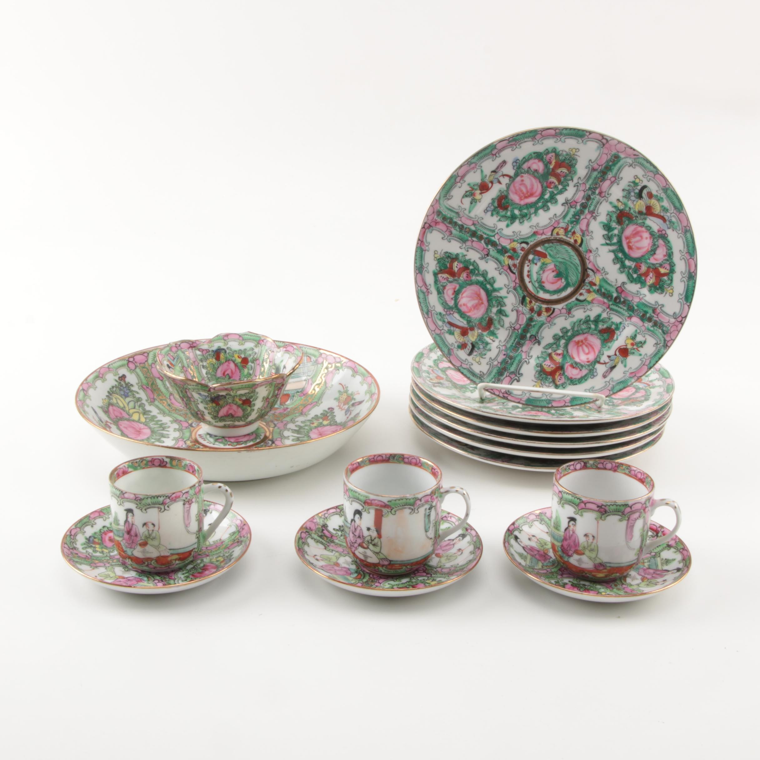 "Chinese ""Rose Medallion"" Porcelain Tableware"