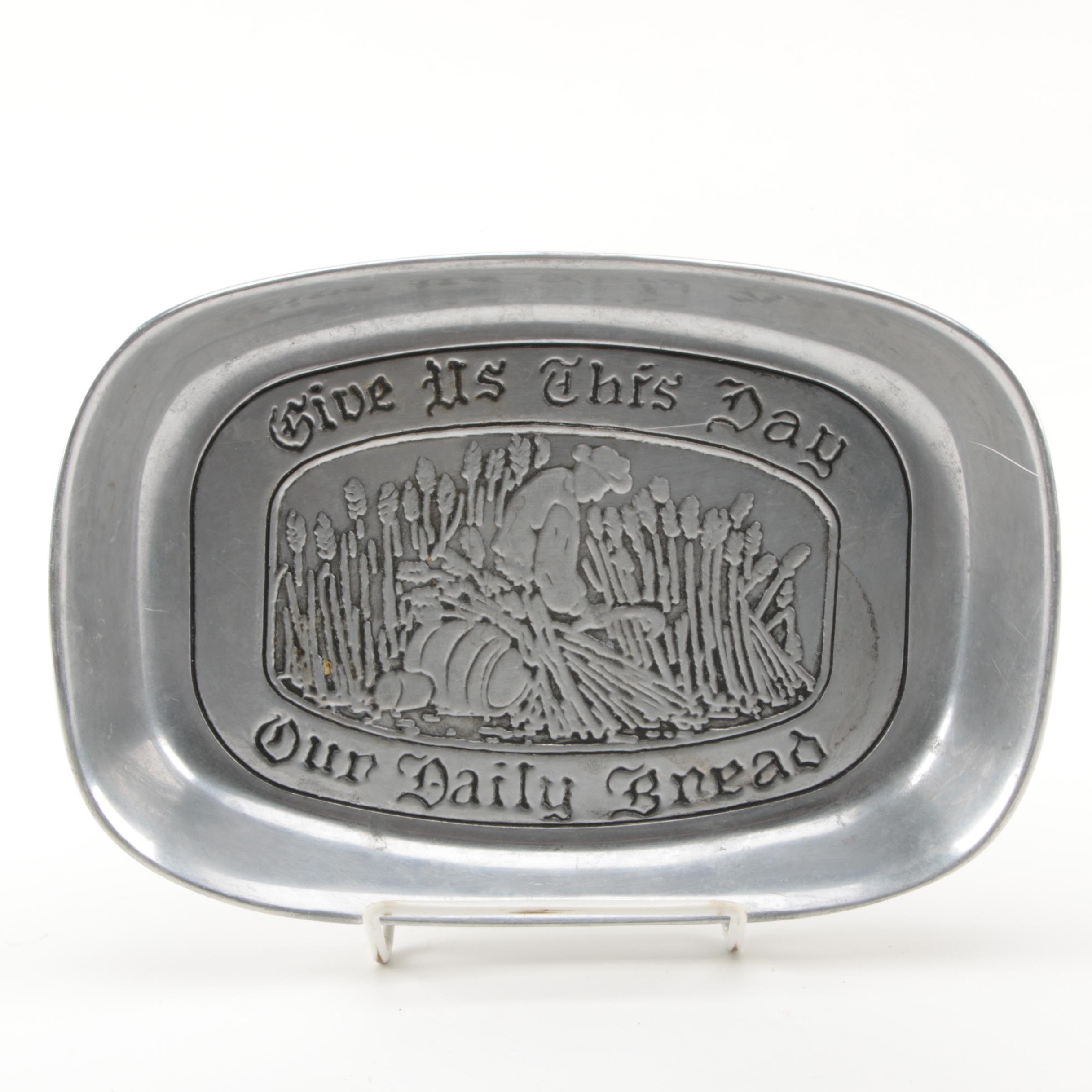 "Wilton ""Give Us This Day Our Daily Bread"" Platter"