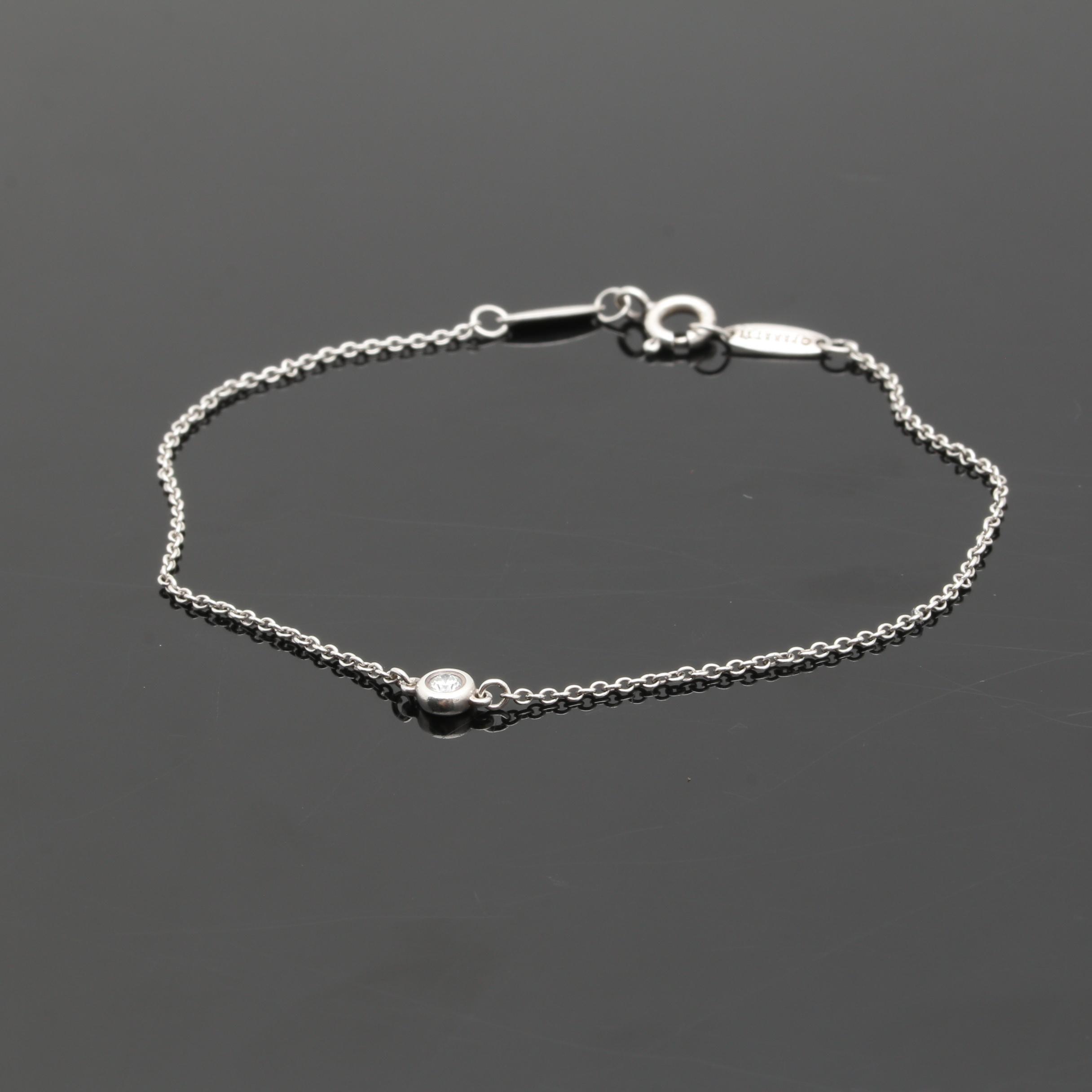 Elsa Peretti for Tiffany & Co. Sterling Silver Diamond Bracelet
