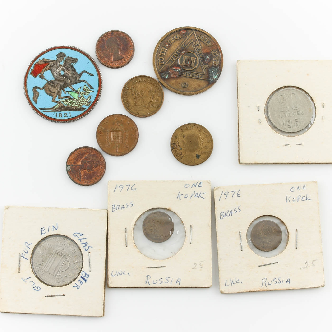 Assortment of Foreign Coins and Tokens