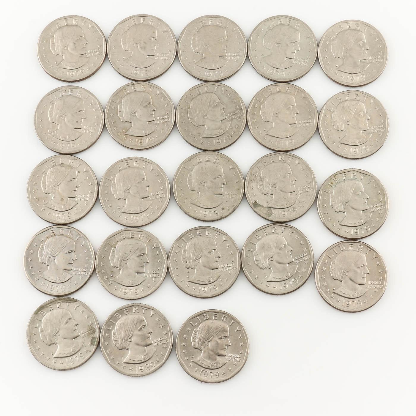 Twenty-Three Susan B. Anthony Dollars