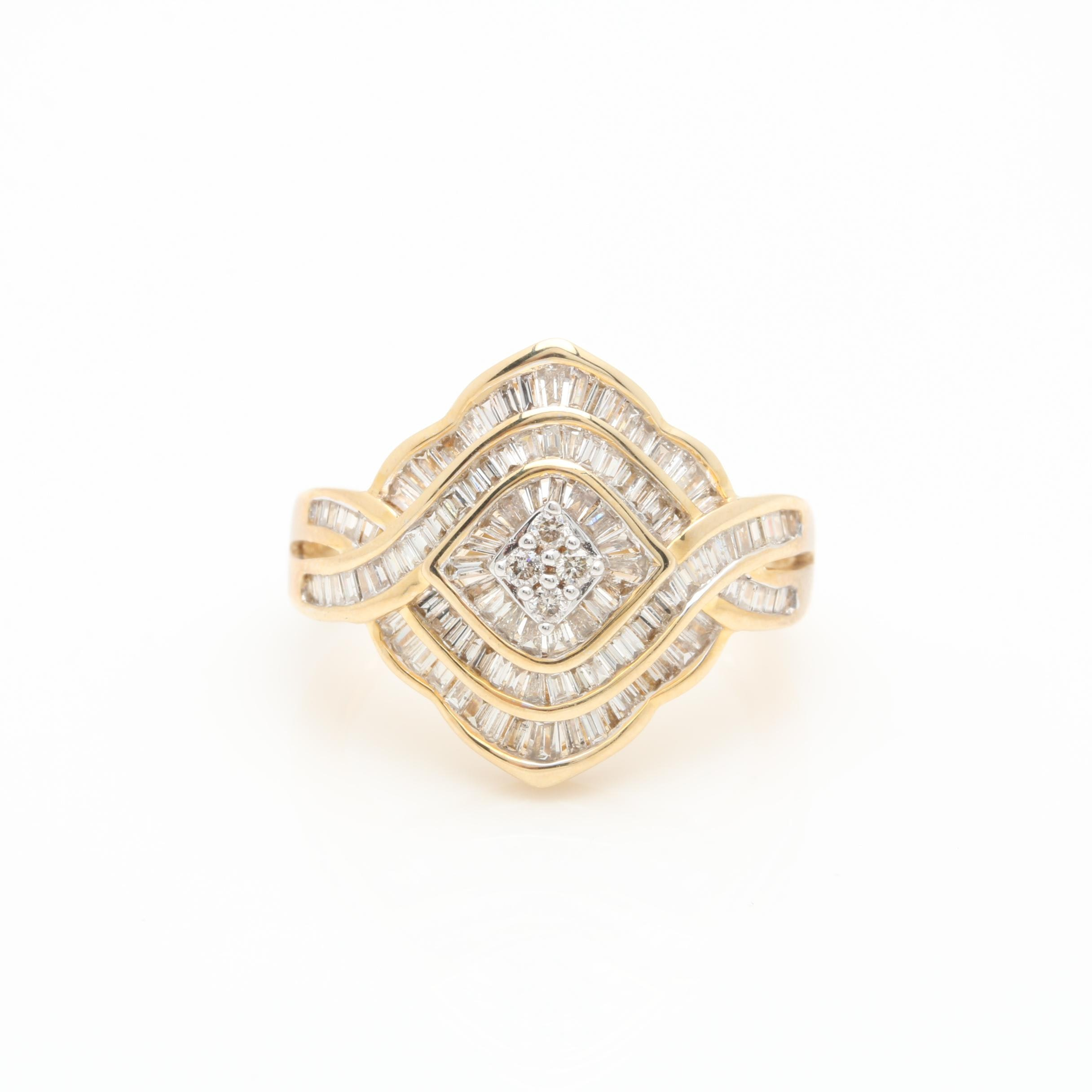 10K Yellow Gold 1.22 CTW Diamond Ring
