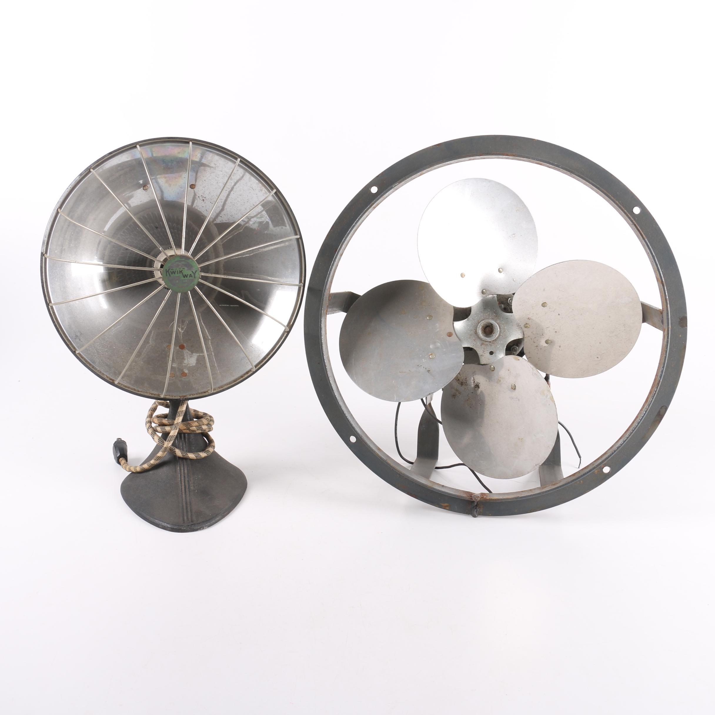 Vintage Dayton Fan And Kwik Way Heater