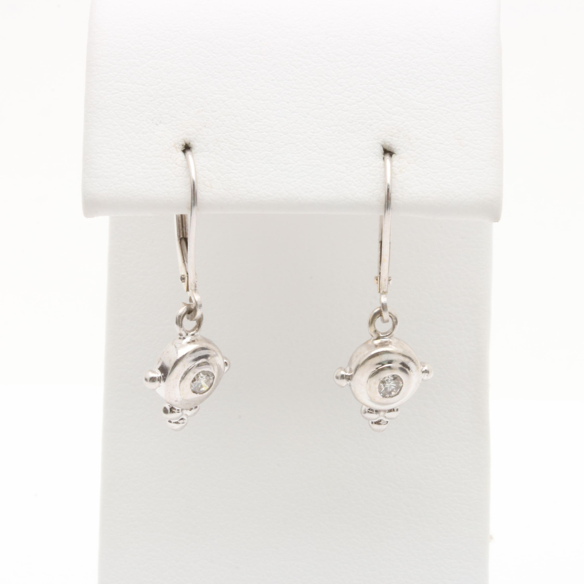 Clyde Duneier 14K White Gold Diamond Earrings
