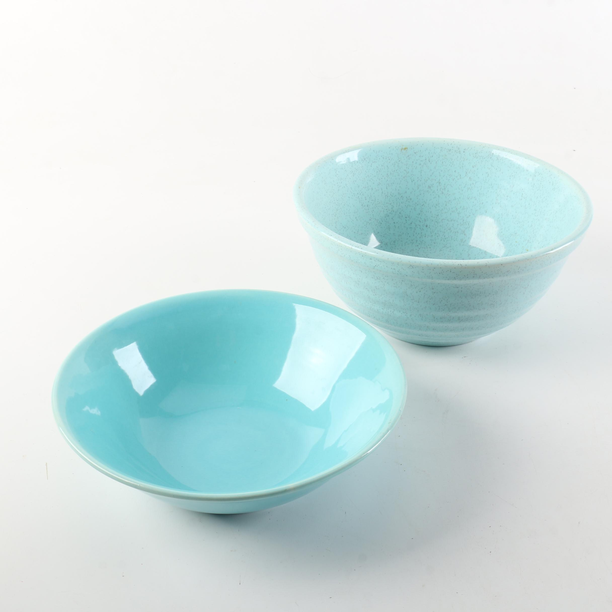Bauer and Speckled Blue Bowls