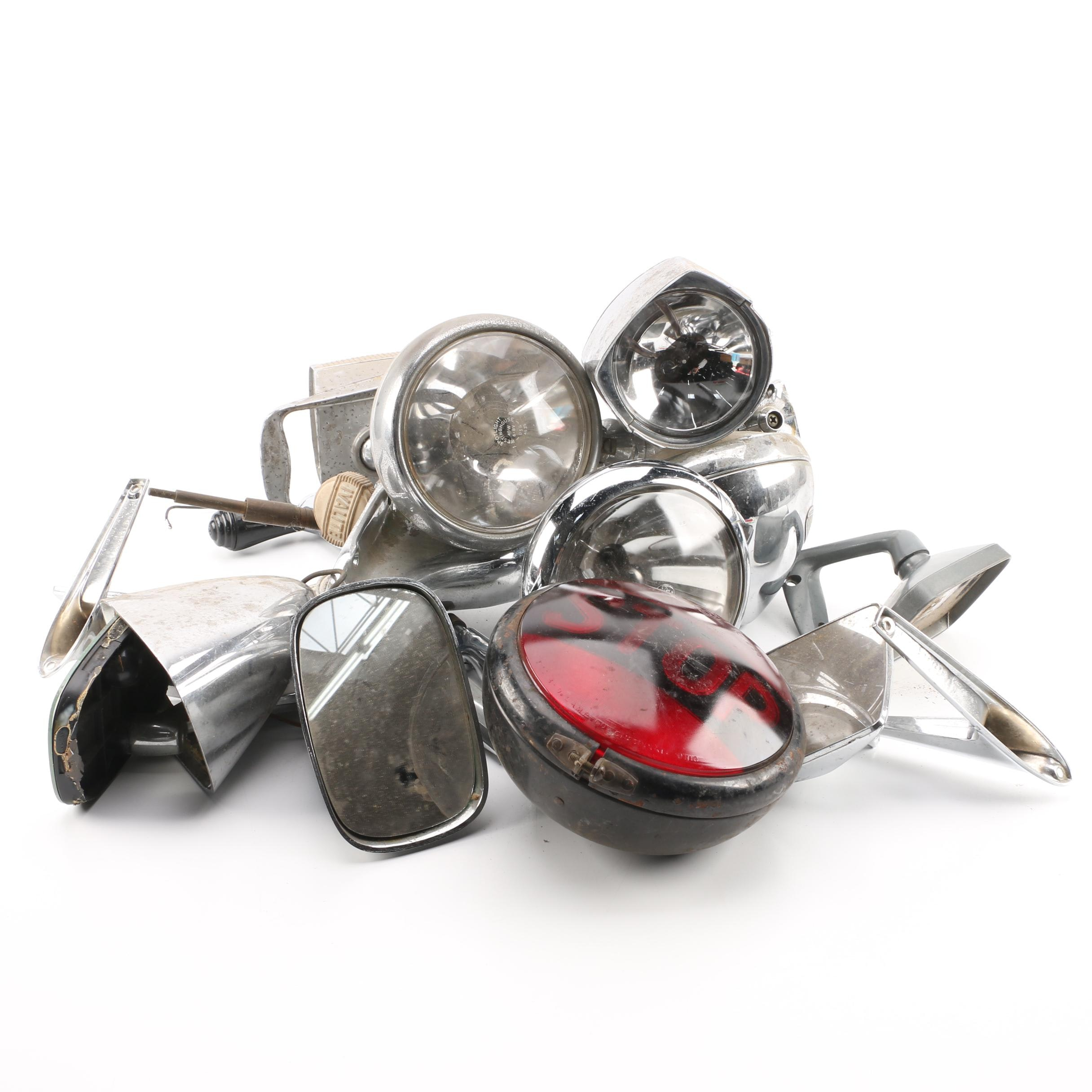 Vintage Automotive Lights And Mirrors