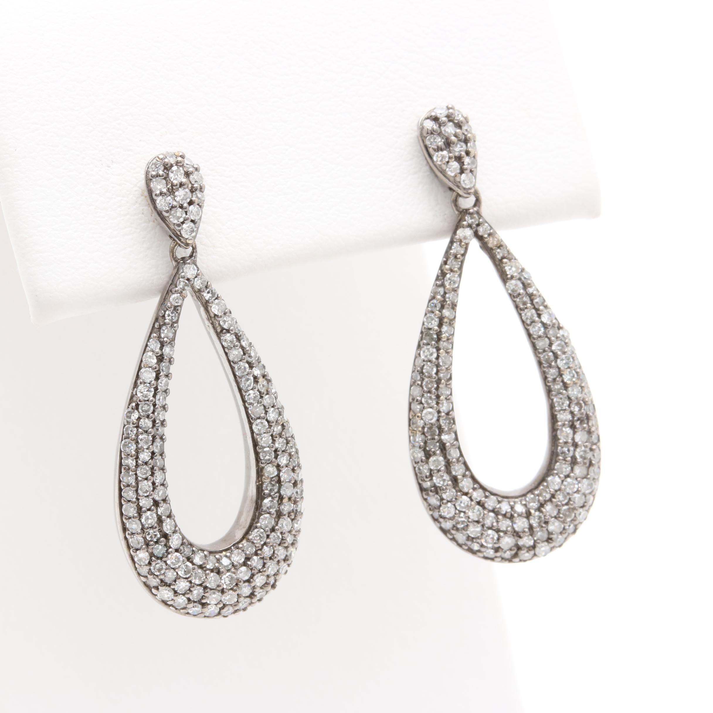 Alwand Vahan 14K White Gold 1.00 CTW Diamond Dangle Earrings