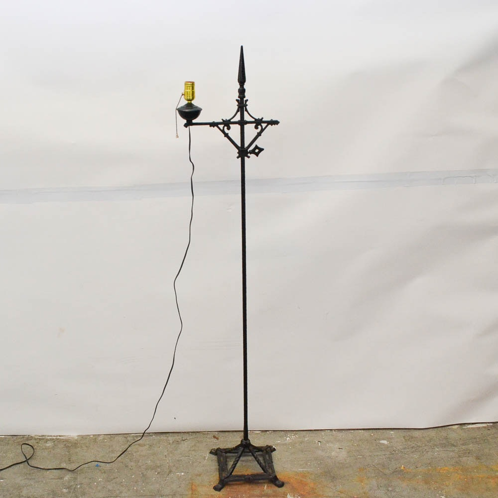 Vintage Wrought Iron Floor Lamp ...