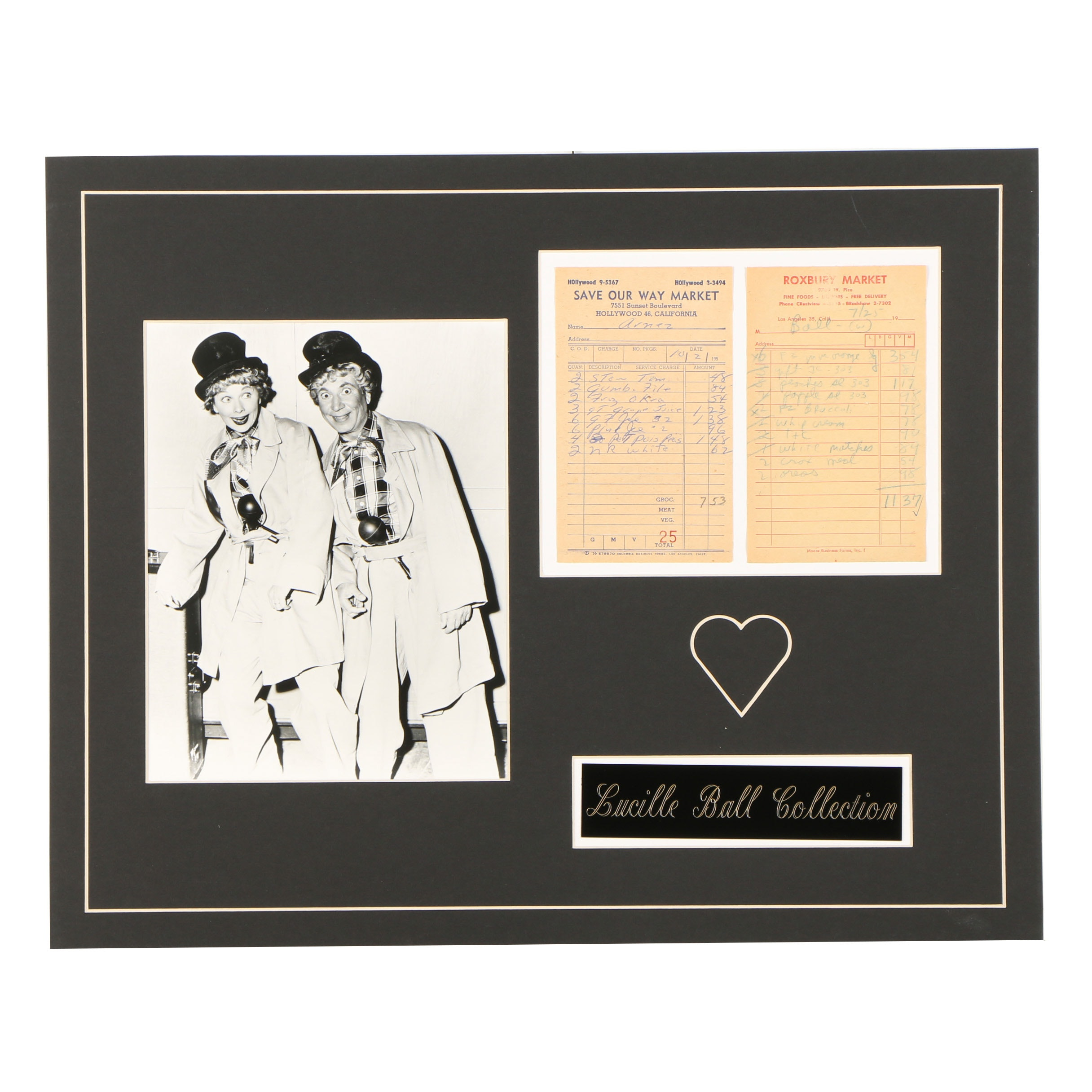 Lucille Ball Photograph and Ephemera