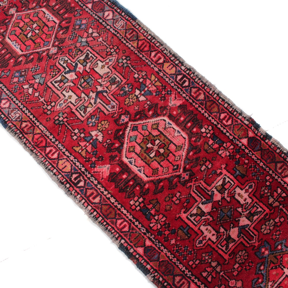 2' x 10' Antique Hand-Knotted Persian Karaja Runner