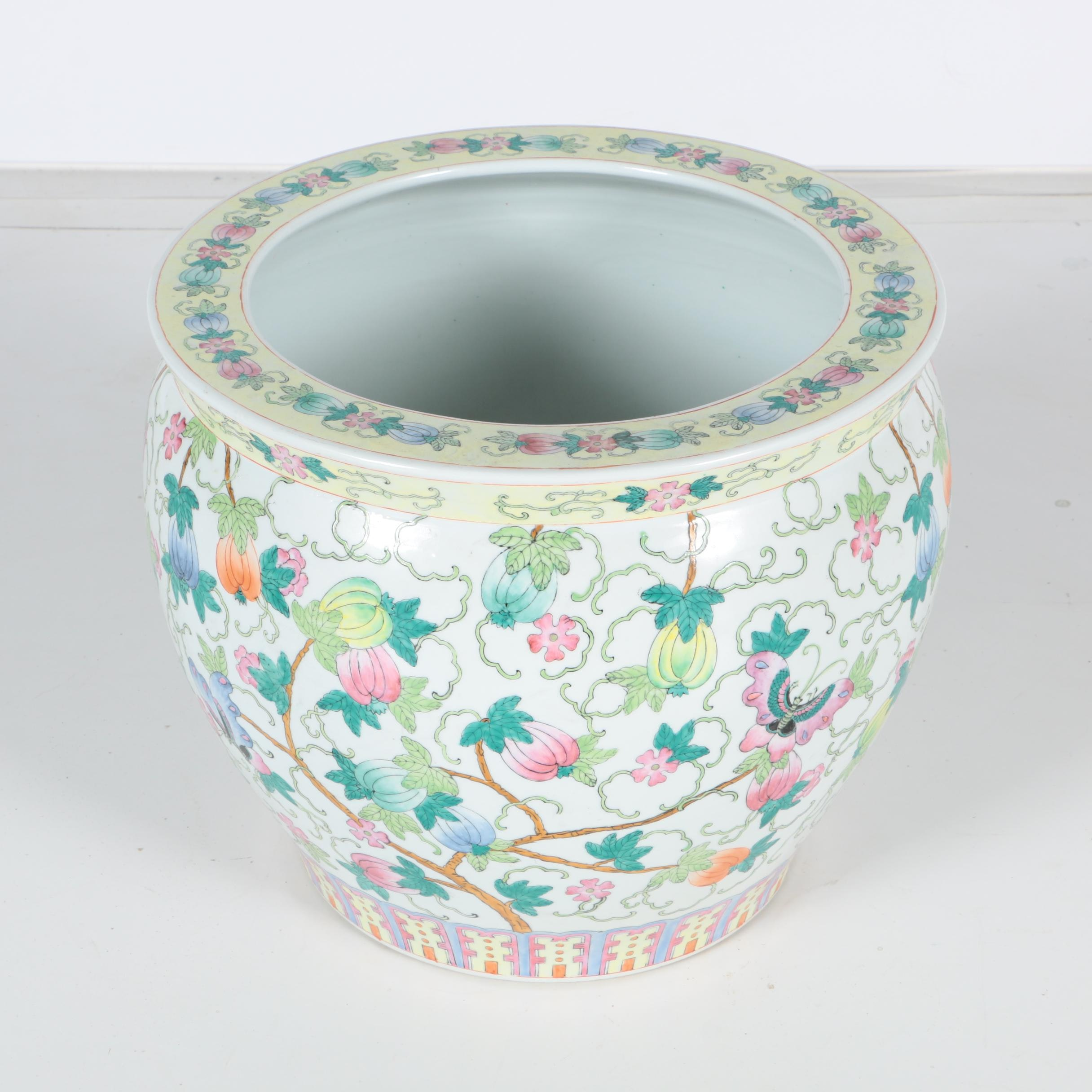 Floral Themed Chinese Ceramic Planter
