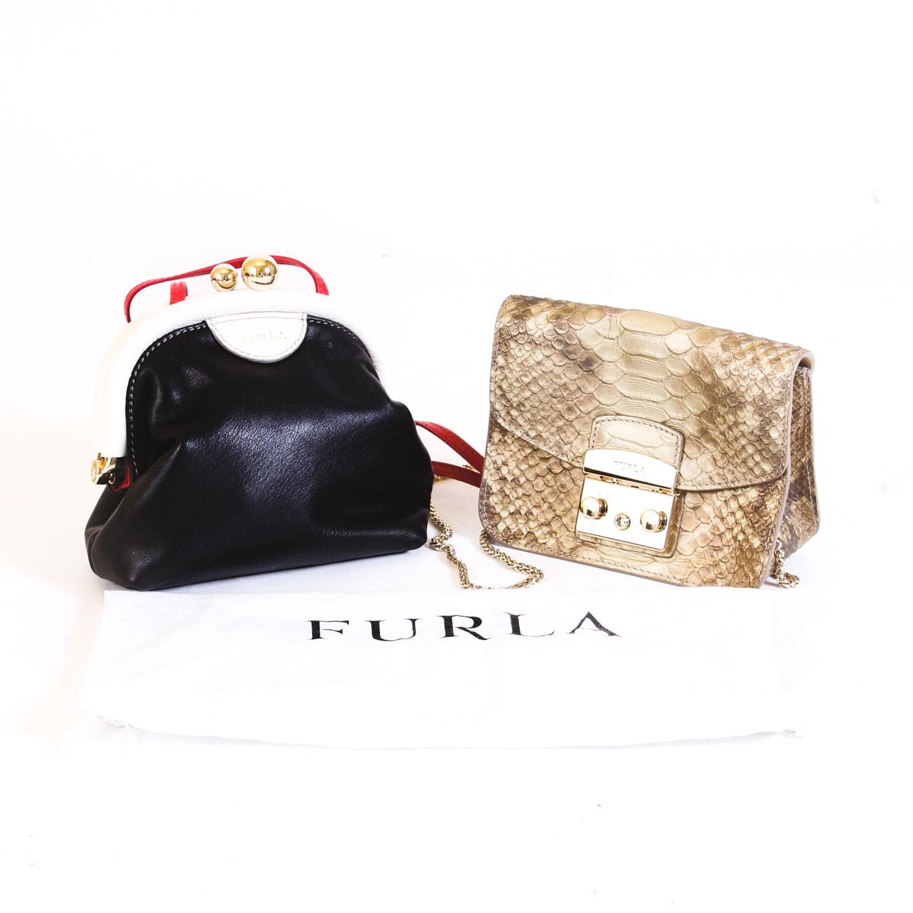 Furla Genuine Leather Crossbody Handbags