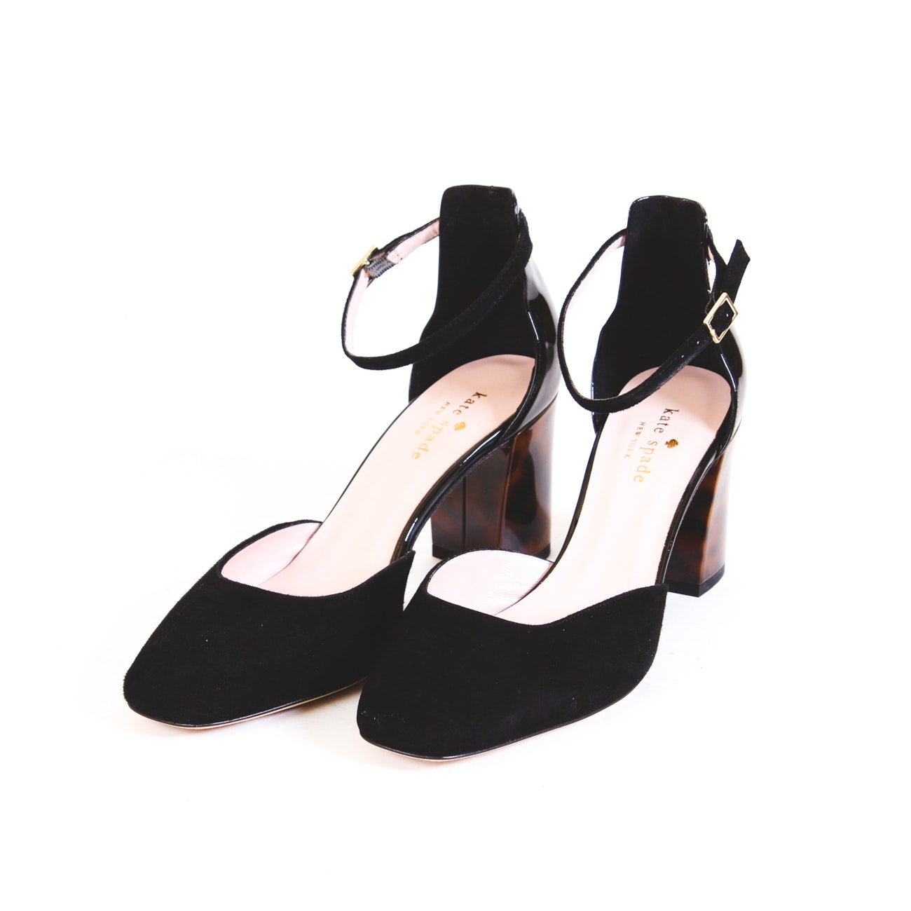 Kate Spade Black Patent Leather and Suede Shoes