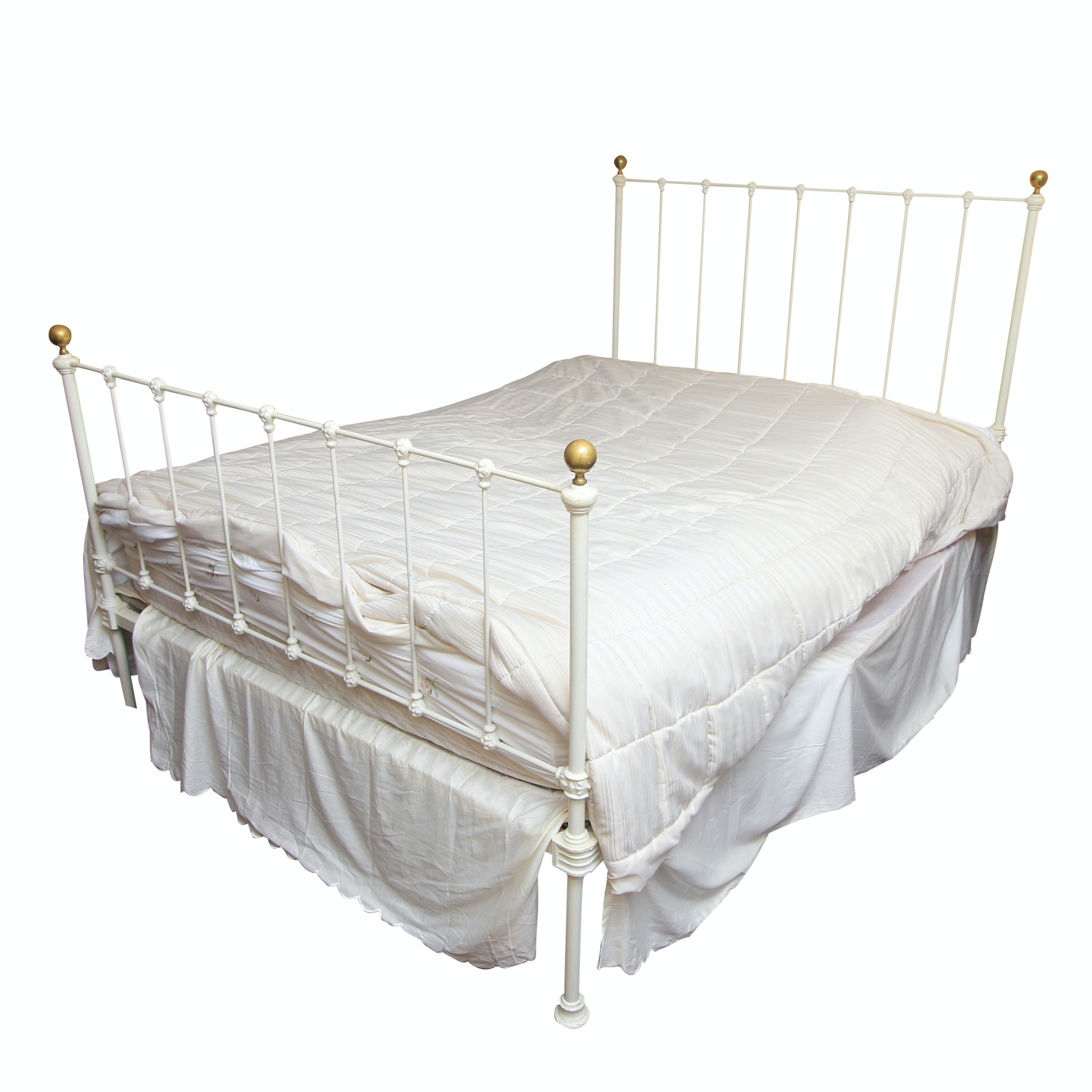 Antique Queen Size Cast Iron Bed Frame