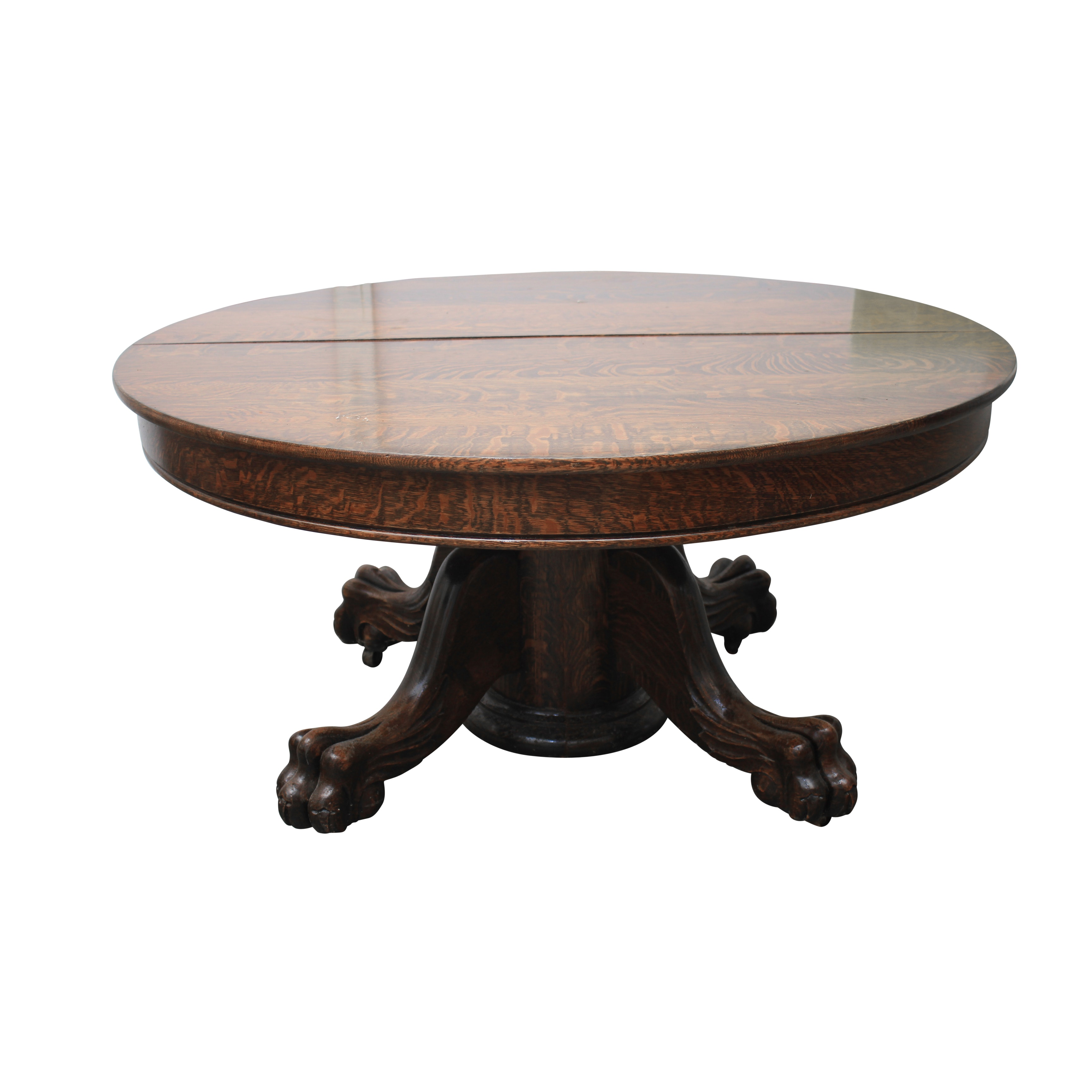 Empire Style Oak Paw Foot Coffee Table