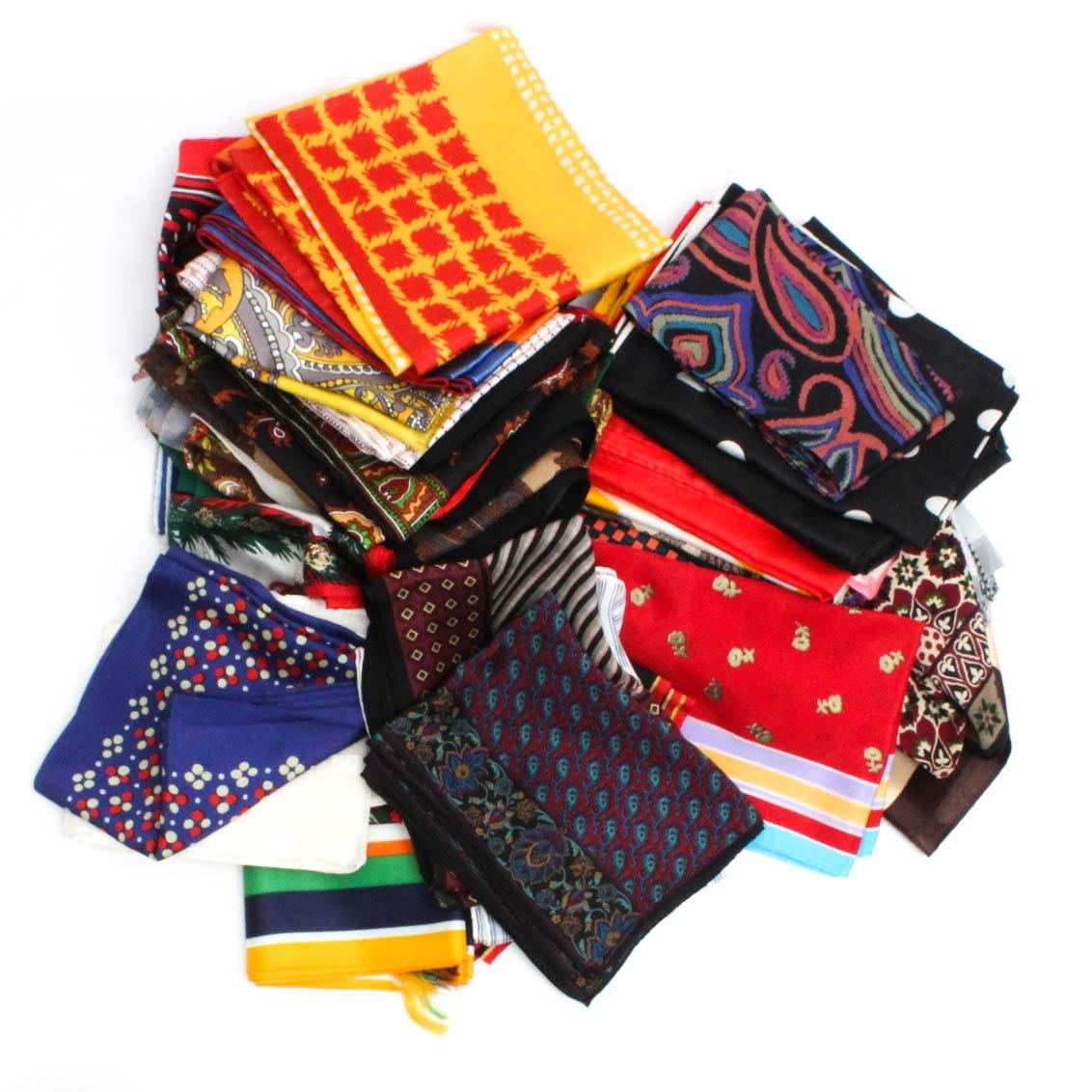 Vintage Silk Scarves and Handmade Kerchiefs