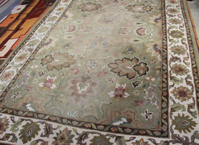 Tufted Persian-Inspired Wool Area Rug