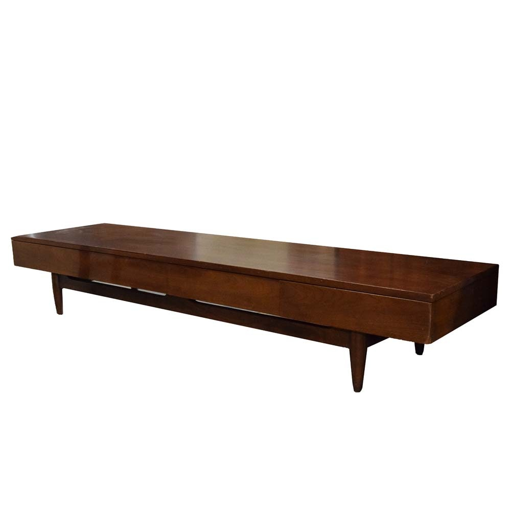 "Mid Century Modern ""Dania"" Bench by Merton Gershun for American of Martinsville"