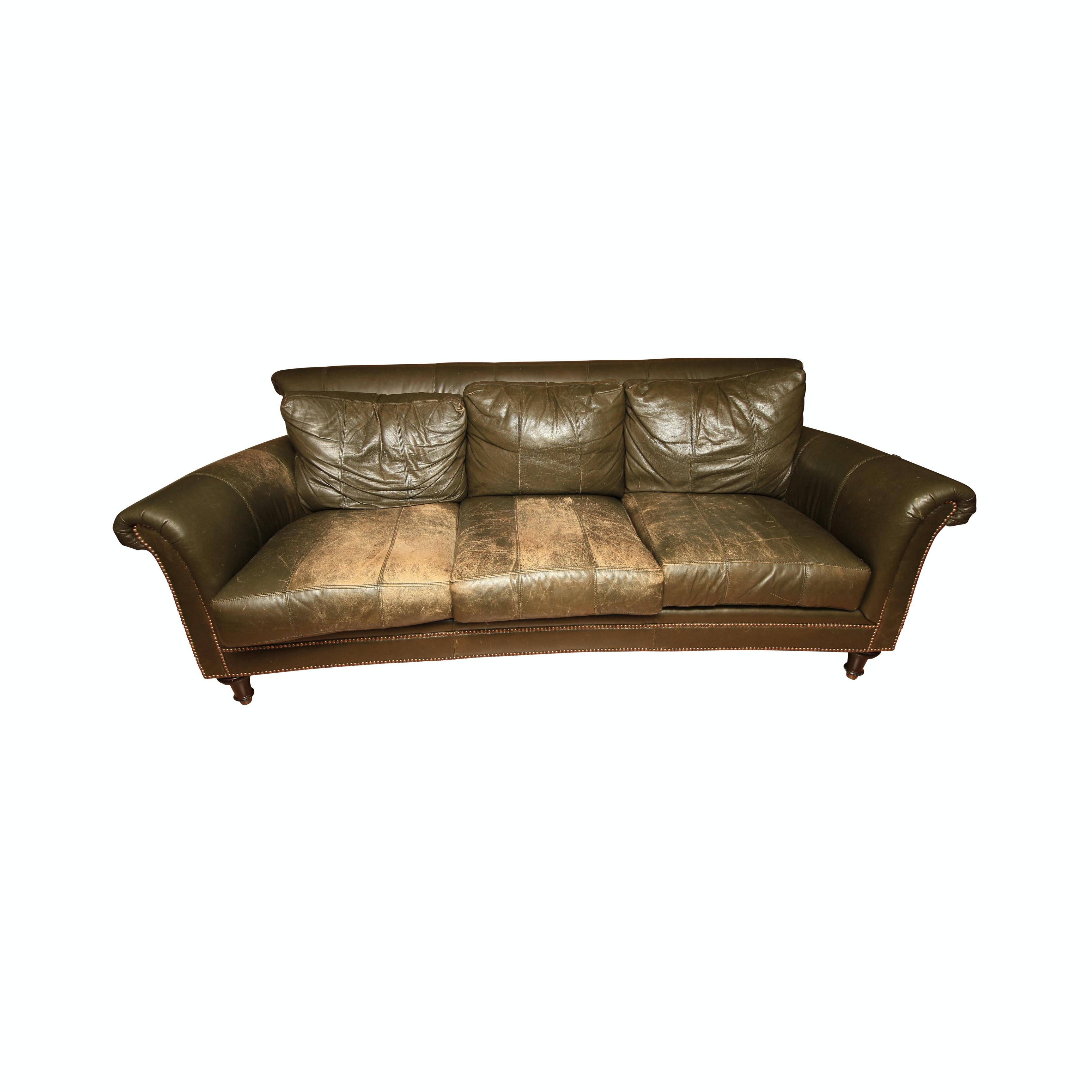 Vintage Leather Sofa by Ferguson Copeland Ltd.