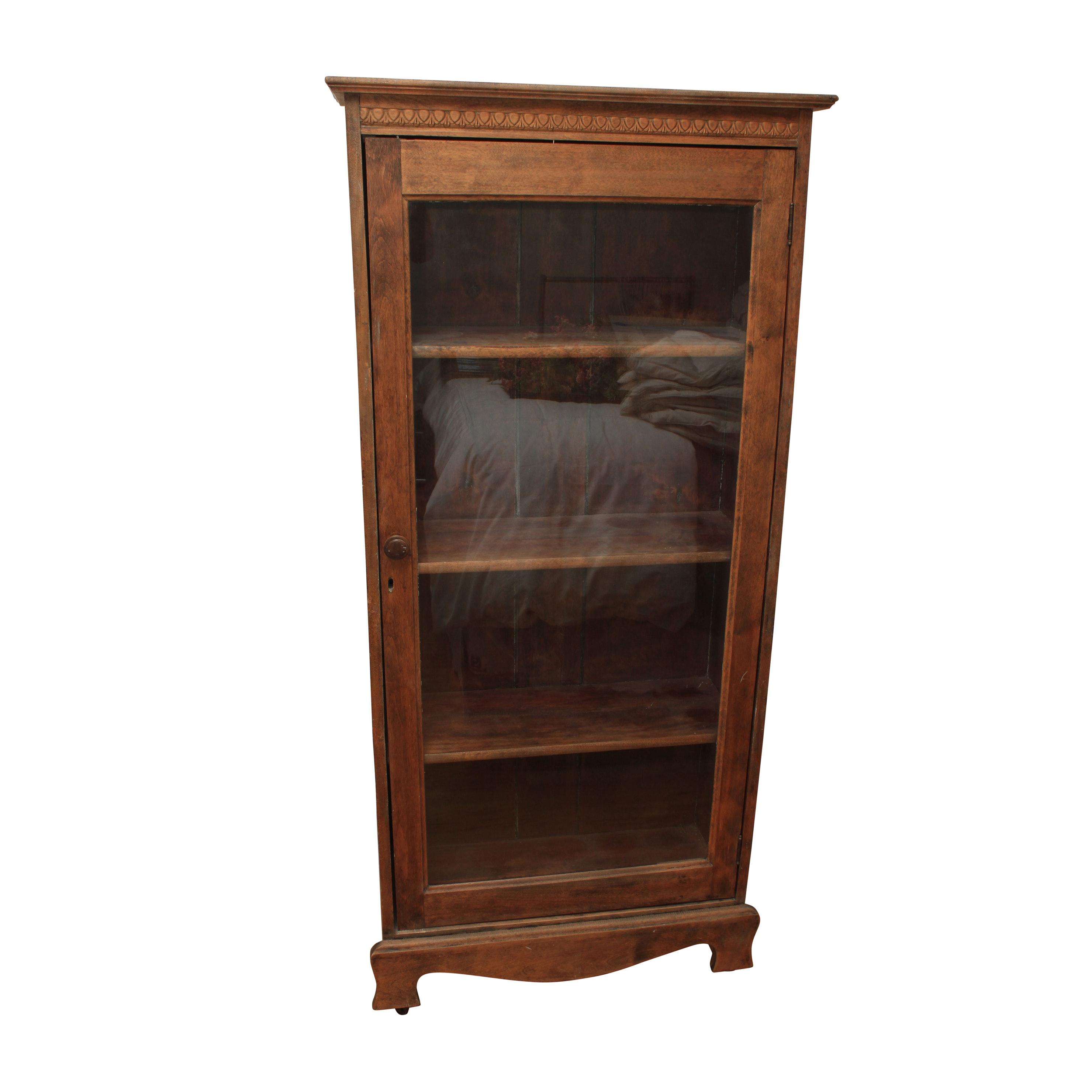 Vintage Walnut Finished Gum Wood Cabinet