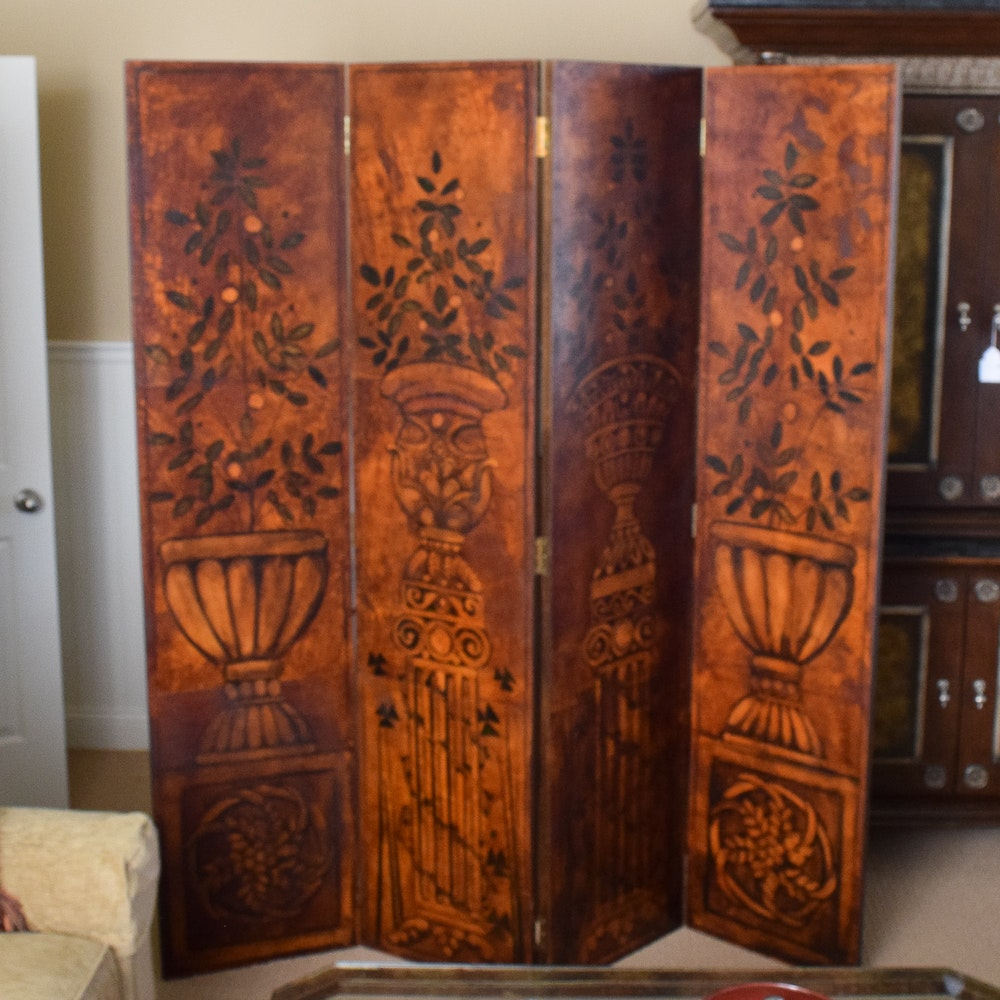 Italian Style Painted Screen Room Divider EBTH