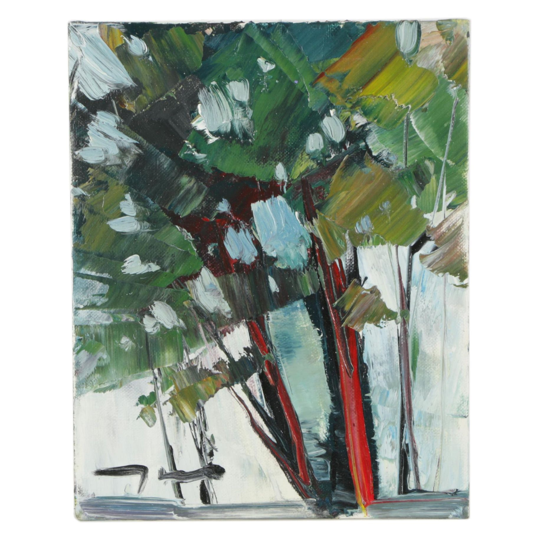 "Jose Trujillo Oil Painting ""The Trees"""