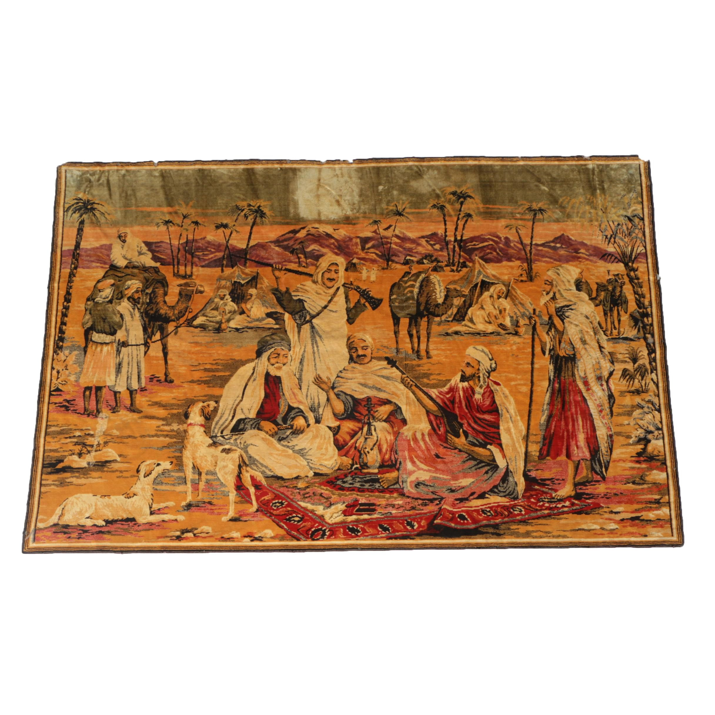 Middle Eastern Inspired Cotton Wall Tapestry