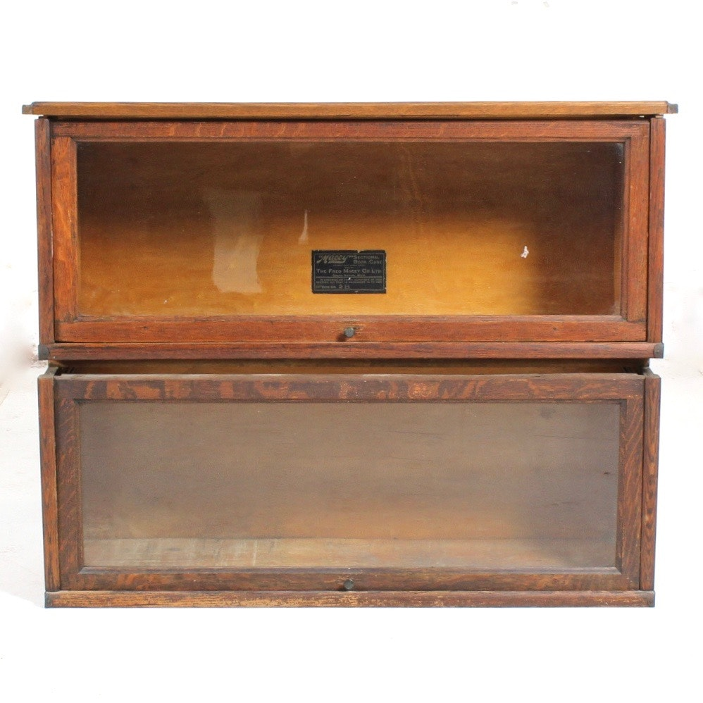 Antique Barrister Bookcase Sections
