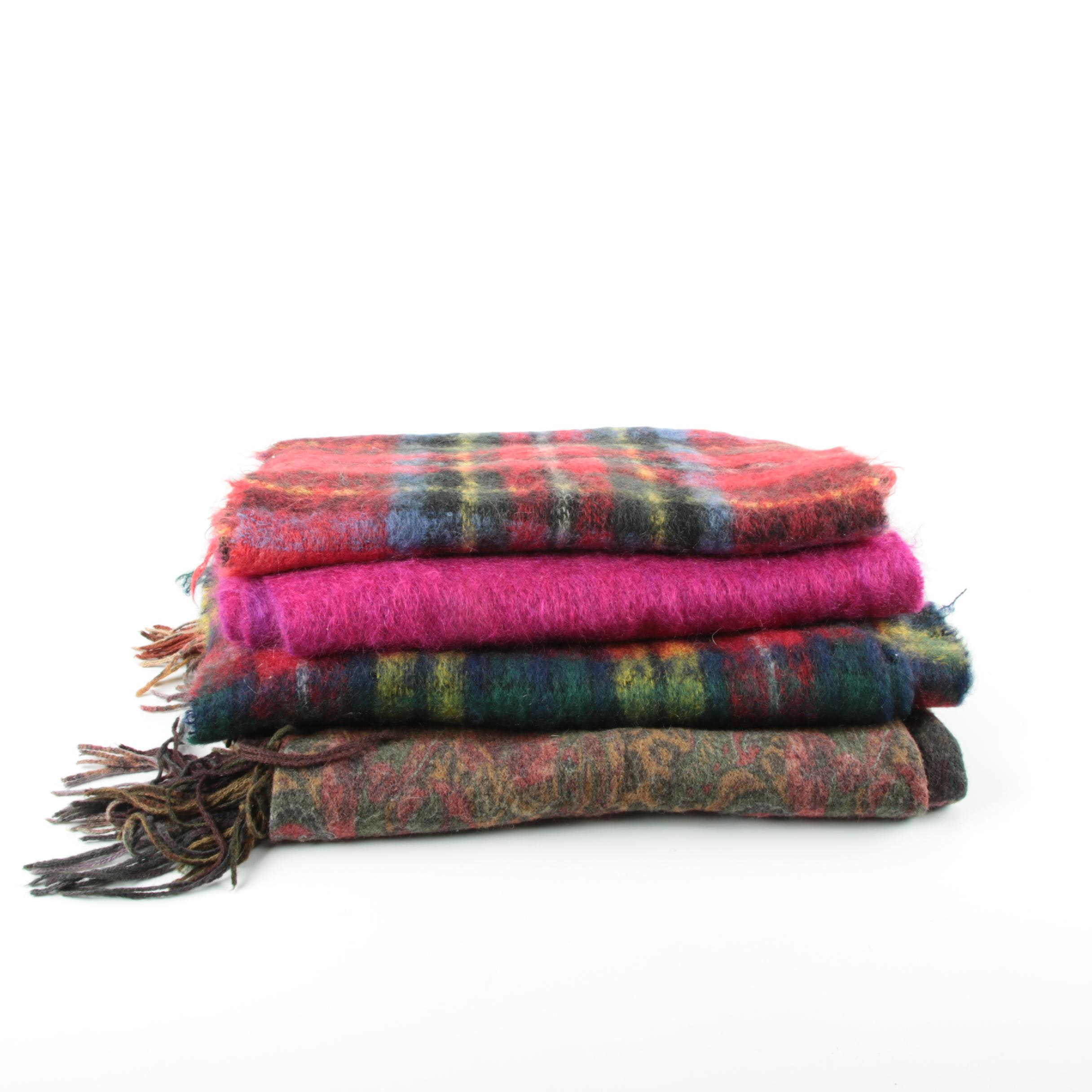 Mohair and Wool Scarves Including Bernat Klein and Forsyth of Edinburgh