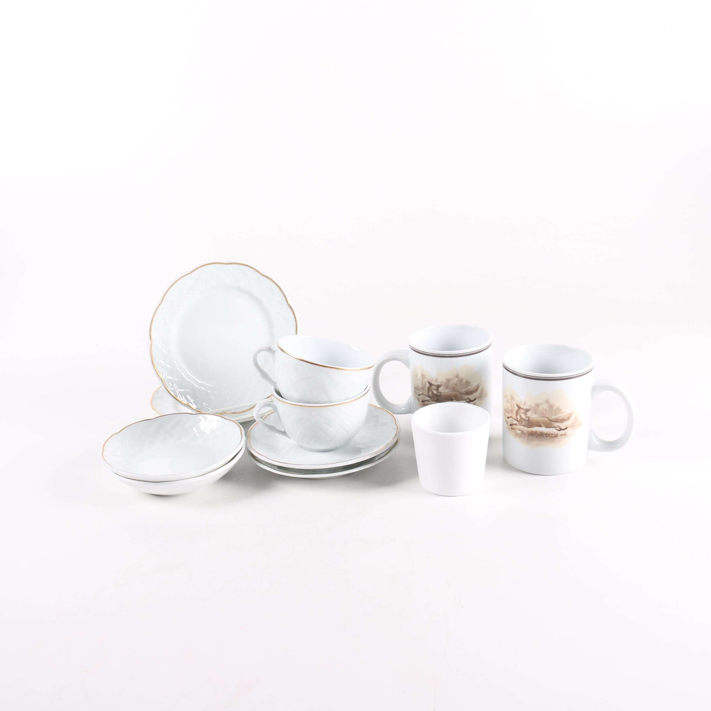 Bernardaud Limoges  Vannerie  Tableware and C. E. Corey   ...  sc 1 st  EBTH.com & Bernardaud Limoges