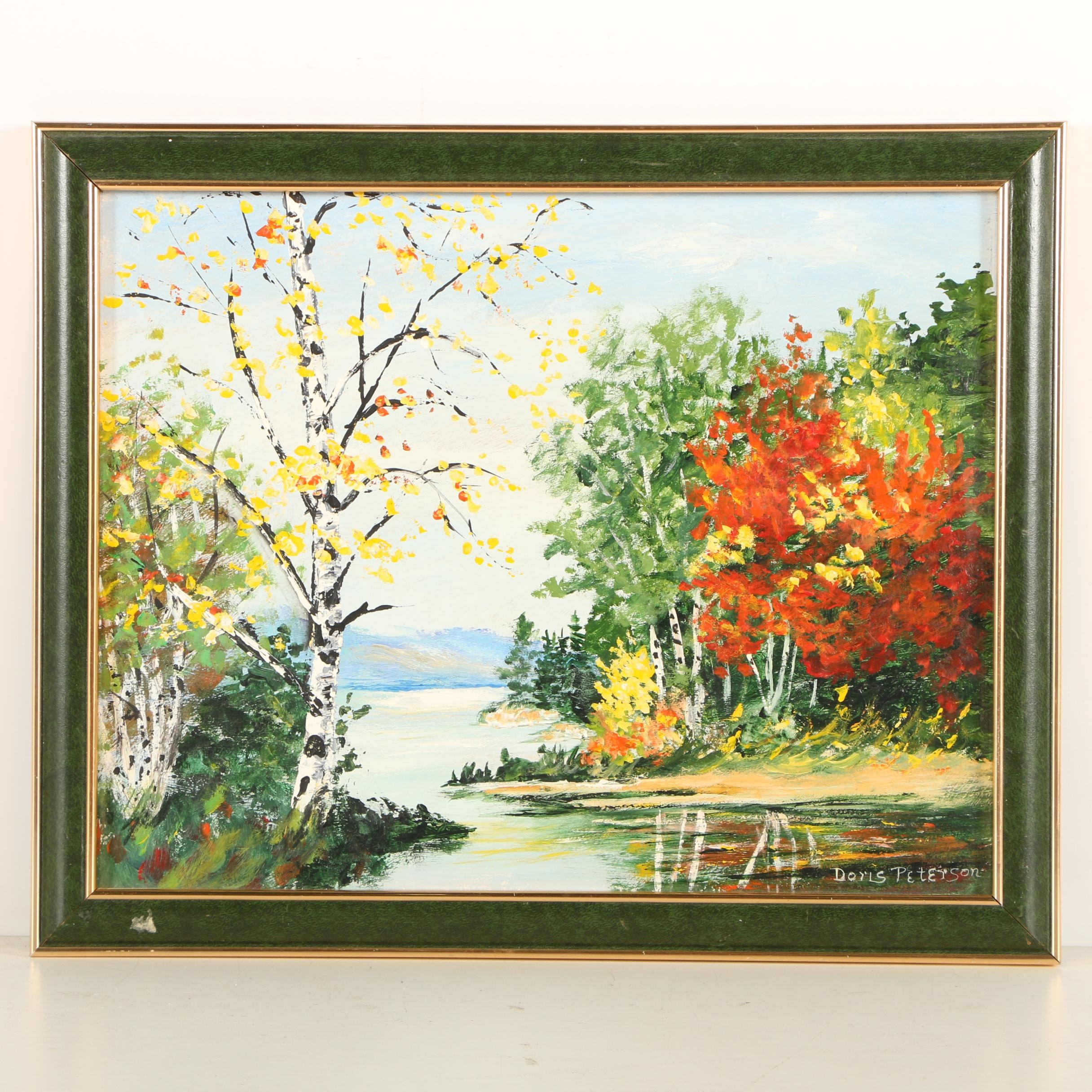 Doris Peterson Oil Painting of a Landscape
