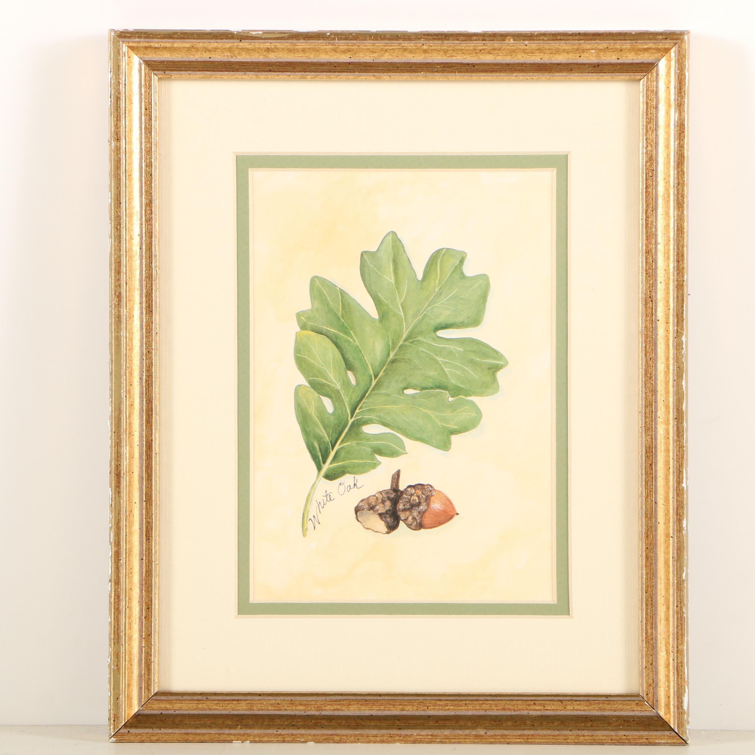 """Offset Lithograph """"White Oak"""""""