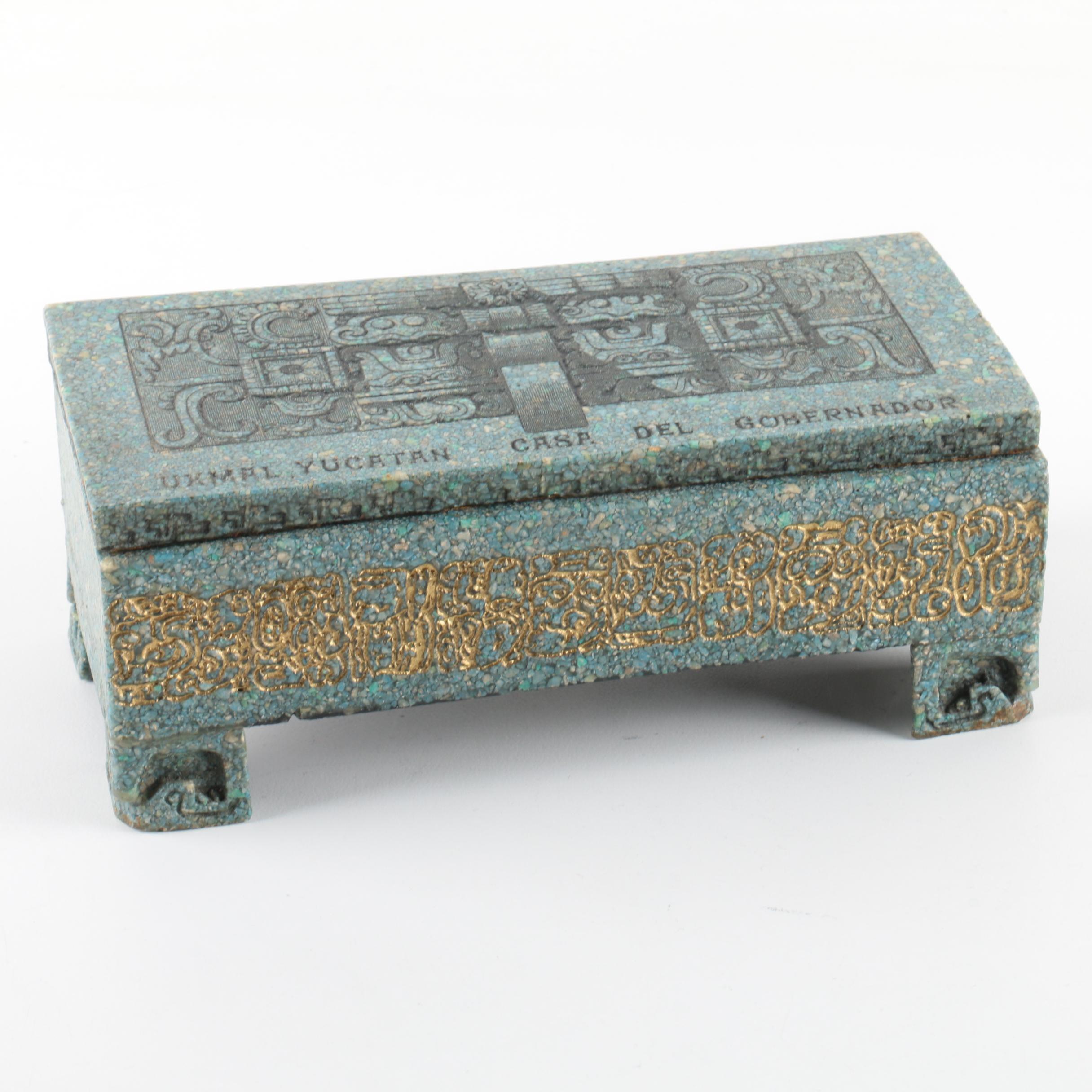 Dyed Chip Trinket Box