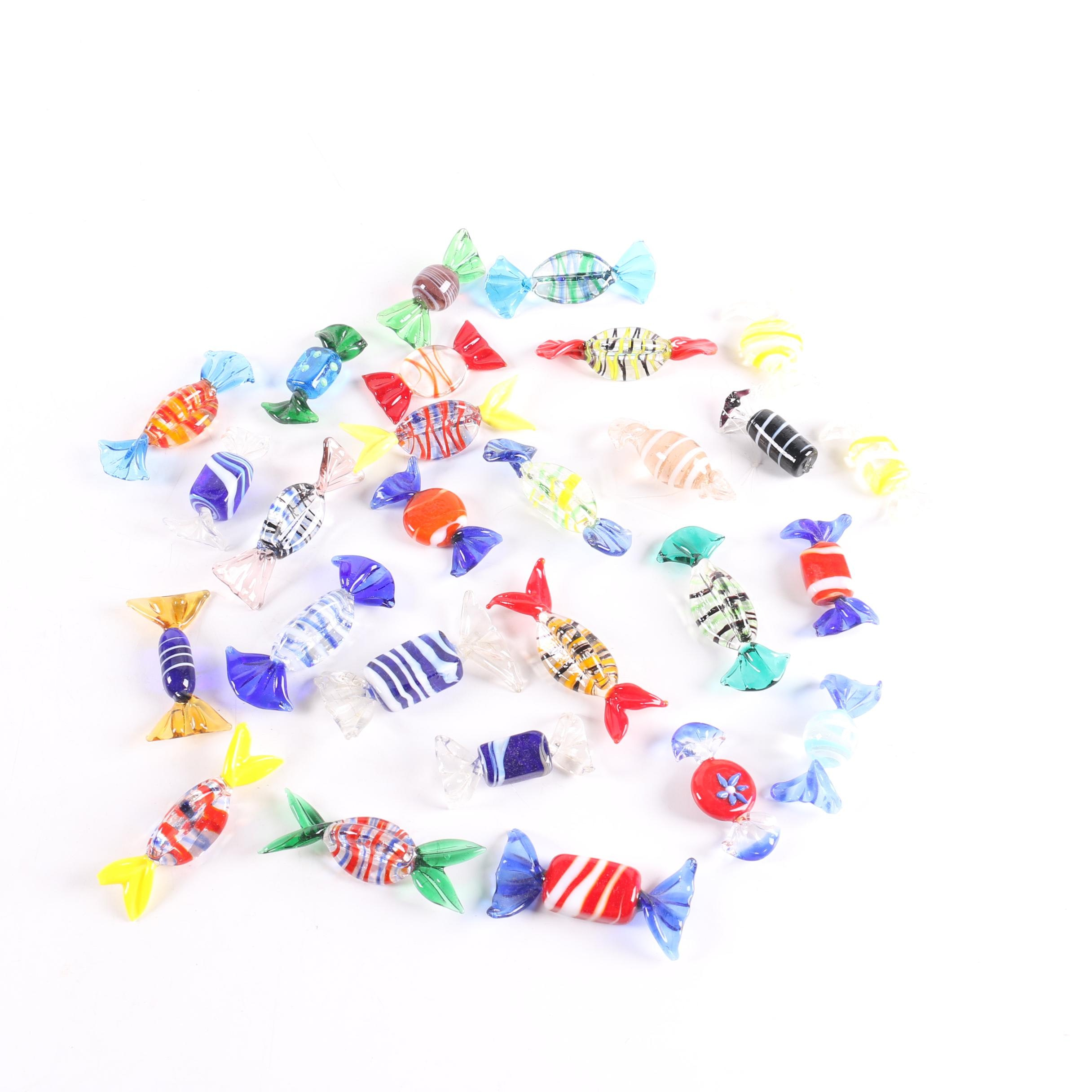Assorted Glass Candy Pieces