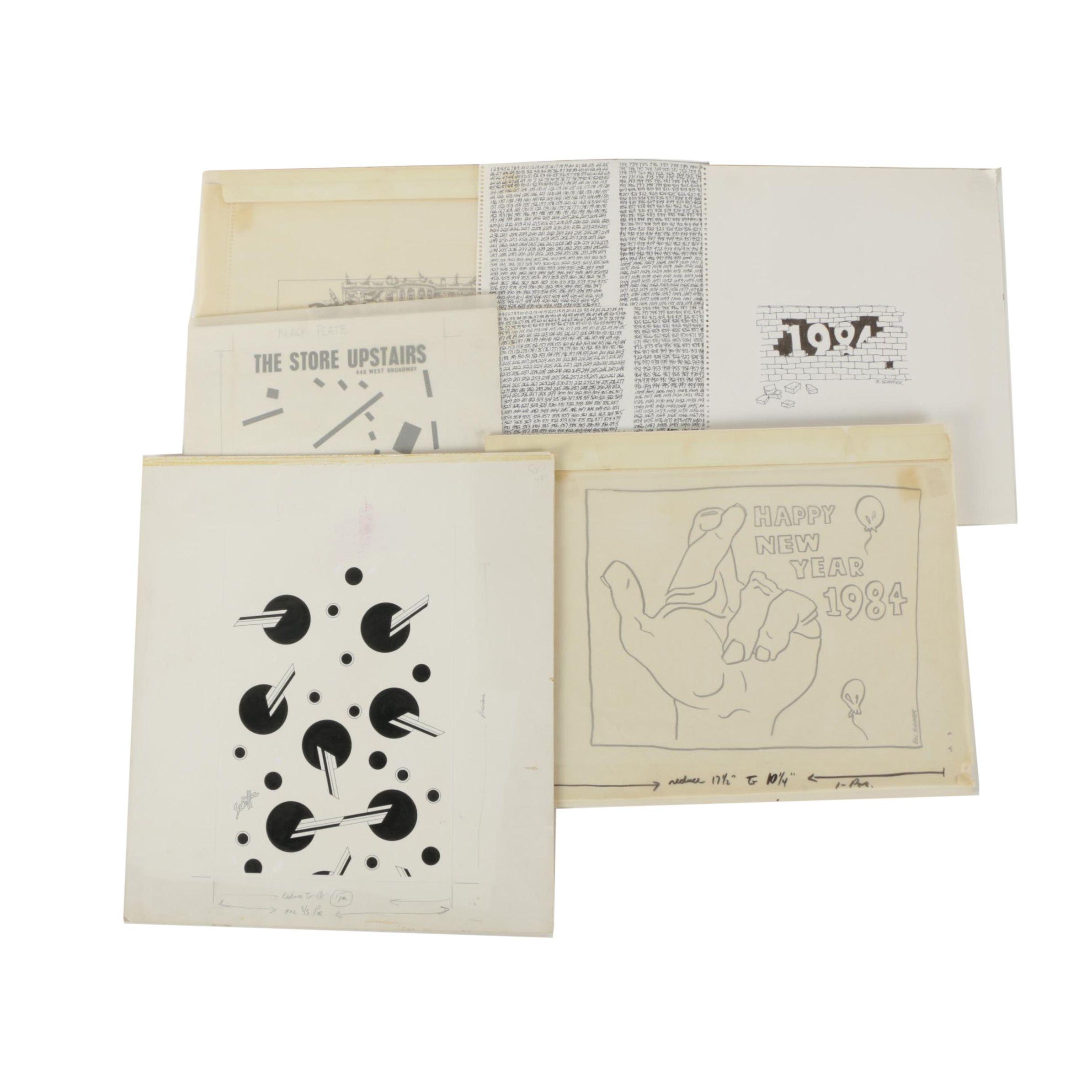 Bill Schiffer Ink Drawings