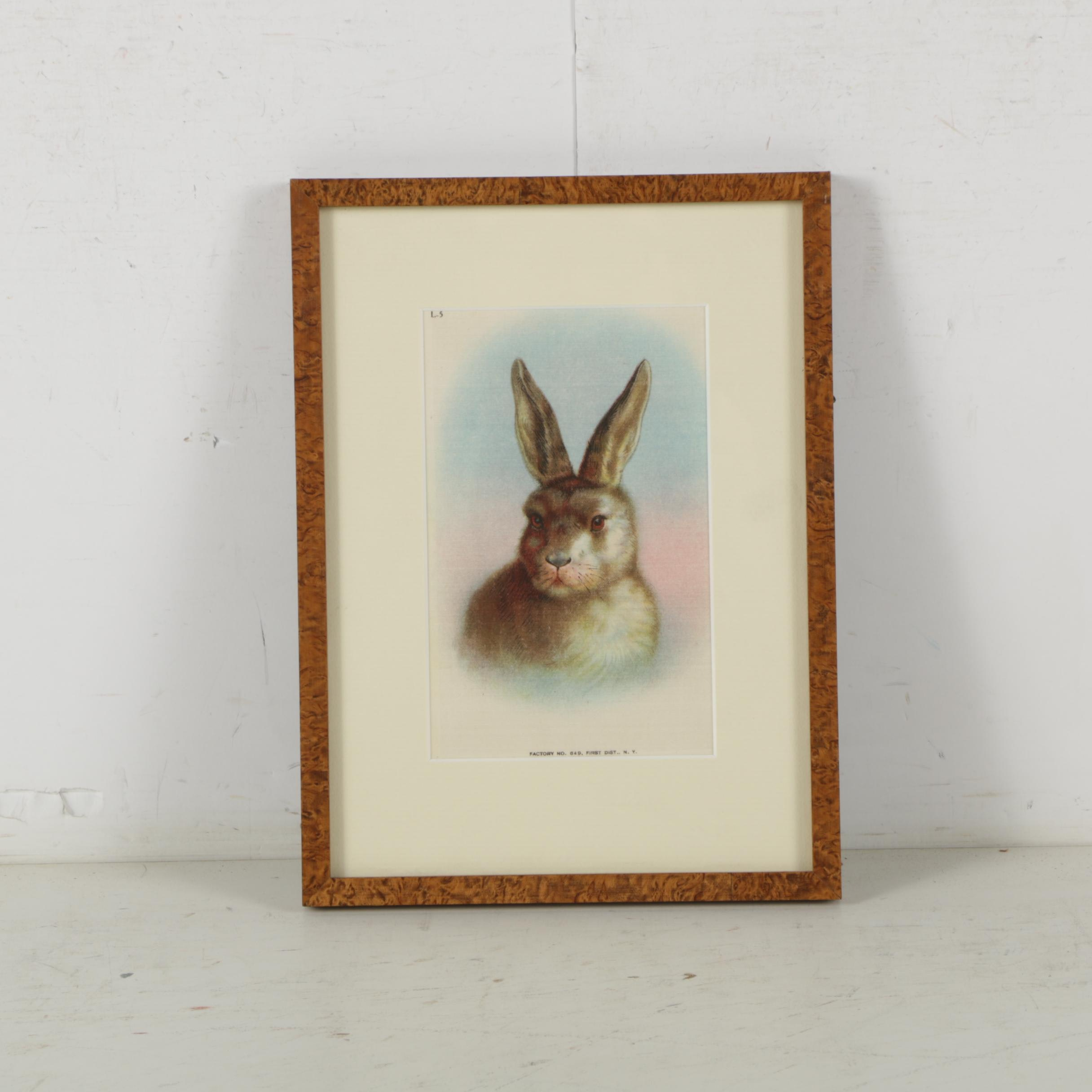 Factory No. 649 Tobacco Silk Illustration of Rabbit