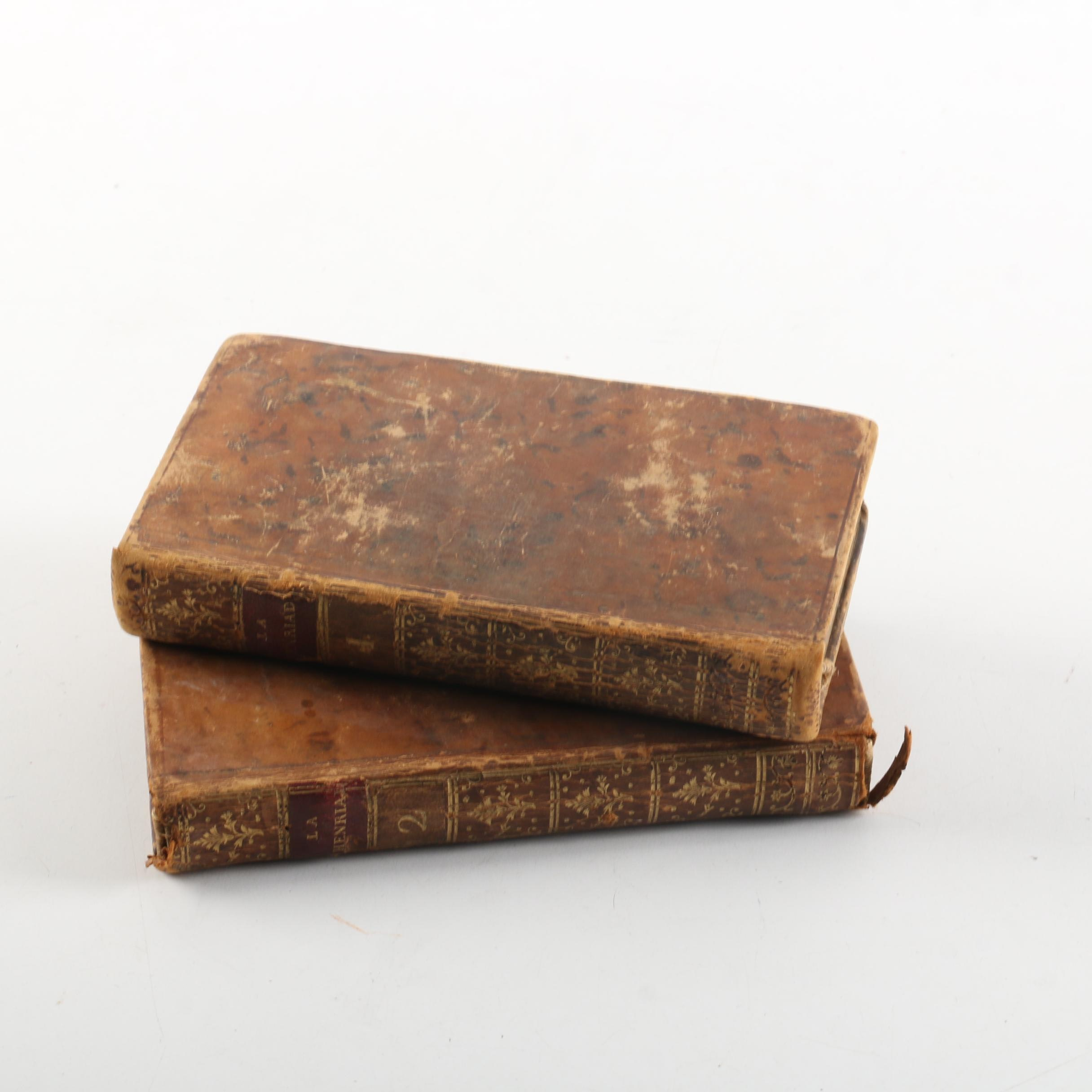 "1787 ""La Henriade"" of Voltaire in Two Volumes"