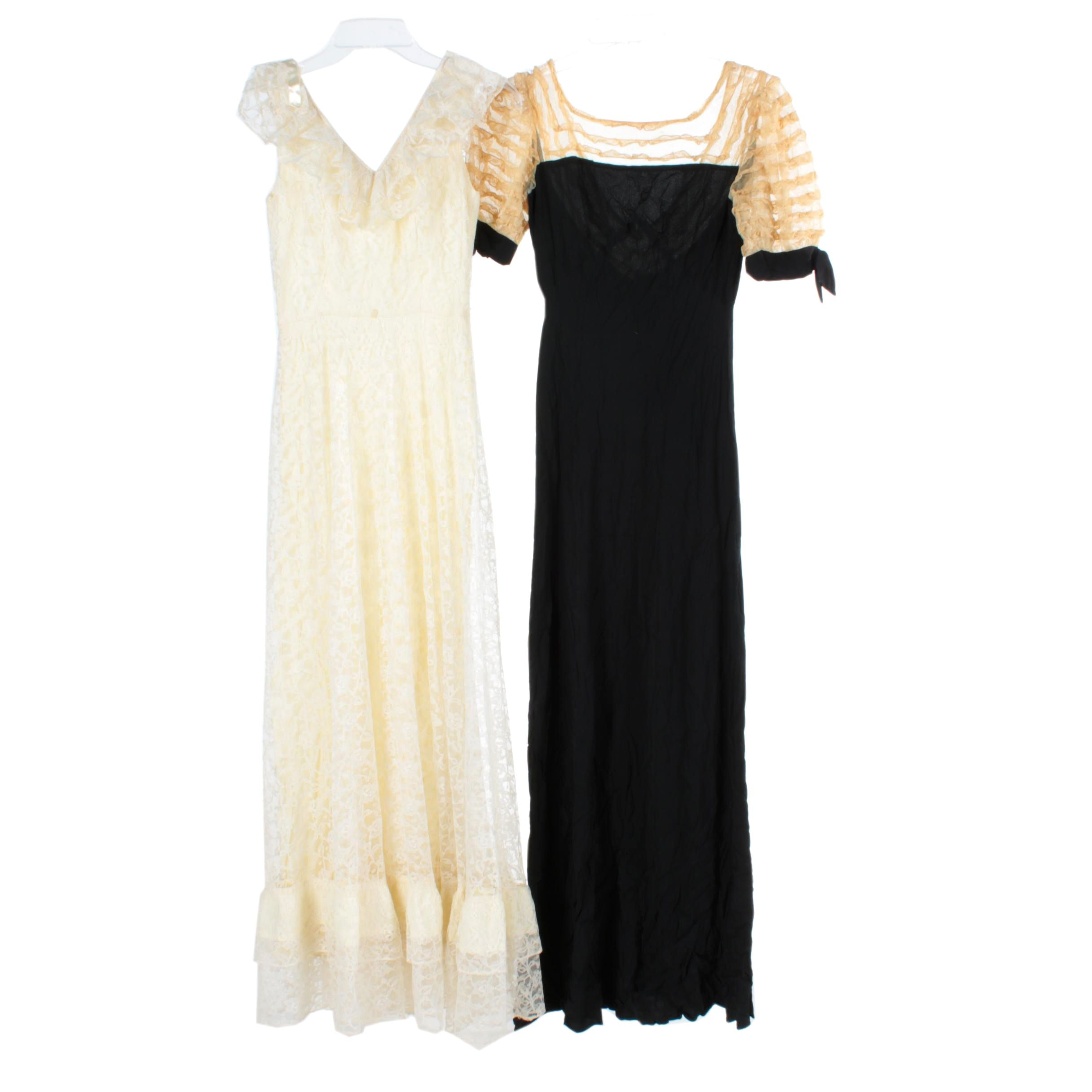 Women's Vintage Lace and Evening Dresses