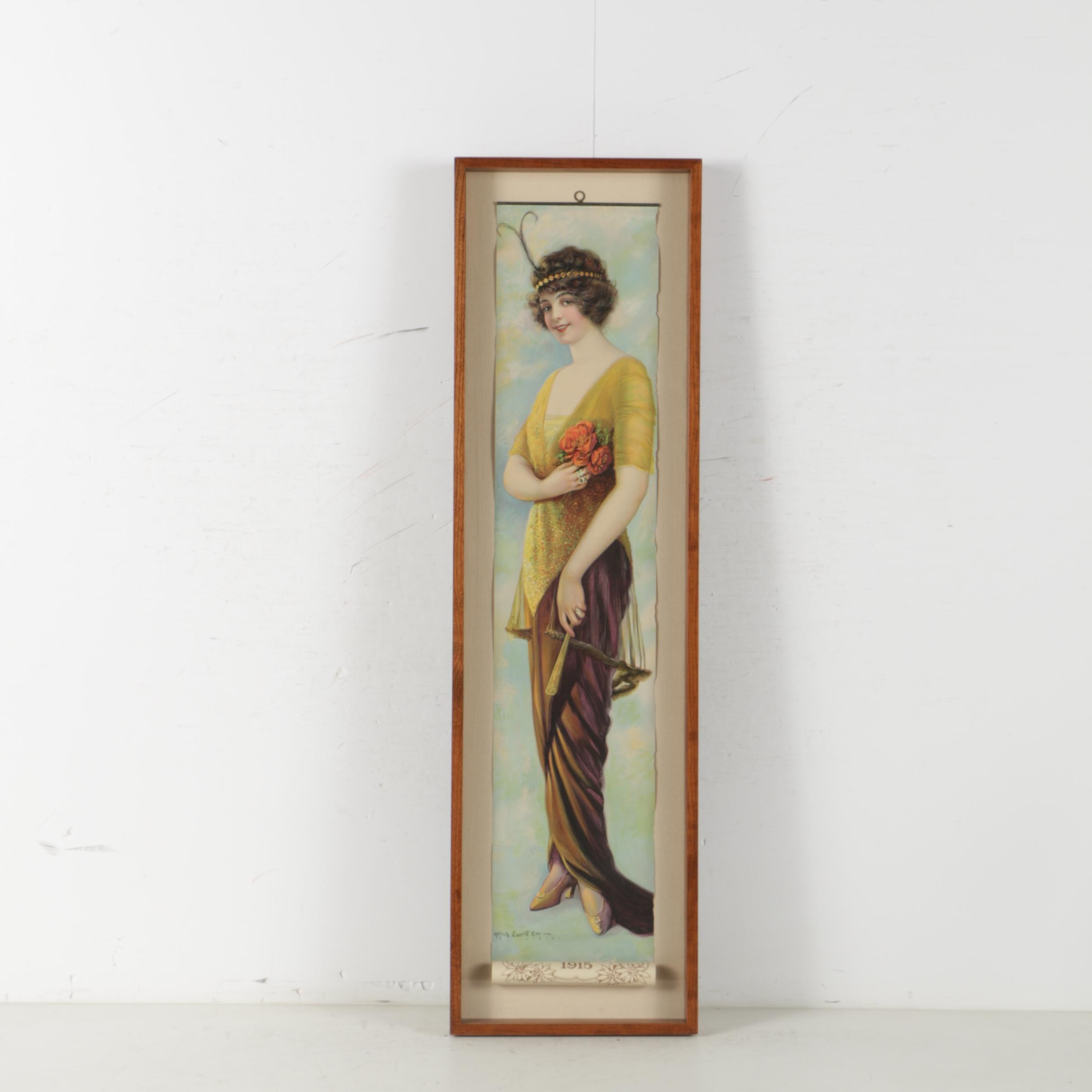 """Lithograph After Alfred Everitt Orr Pabst Extract """"The Panama Girl"""""""