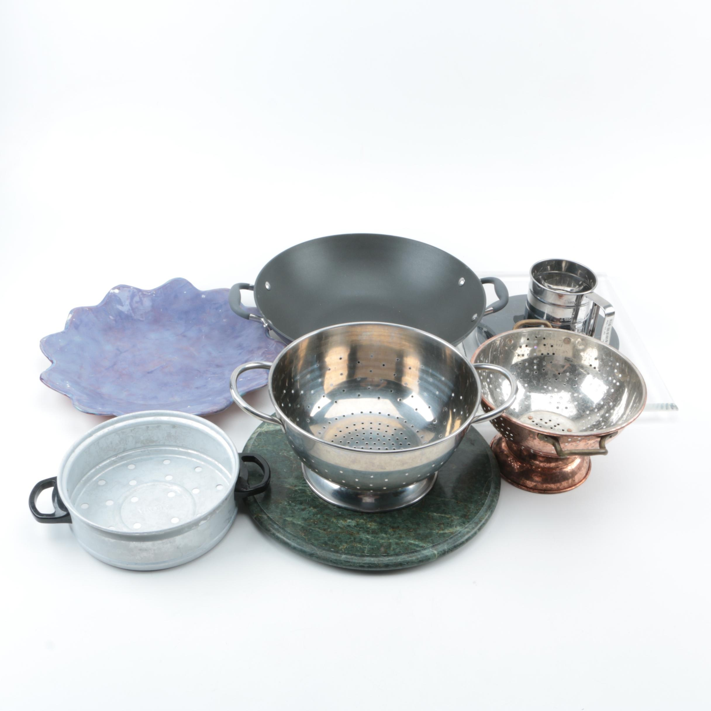 Kitchen Ware Including R.Wood Studio and Pottery Barn