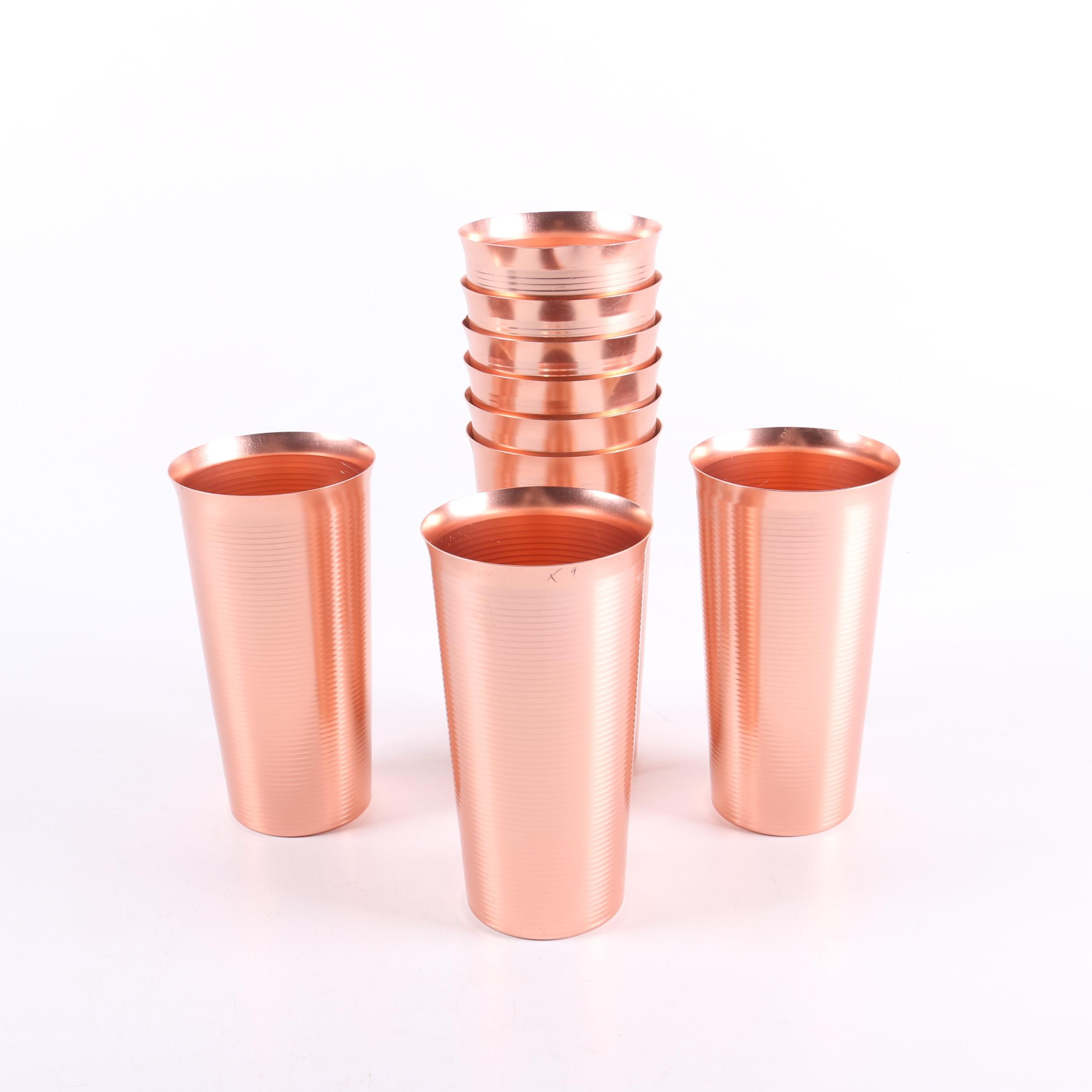 Vintage West Bend Copper Colored Aluminum Tumblers