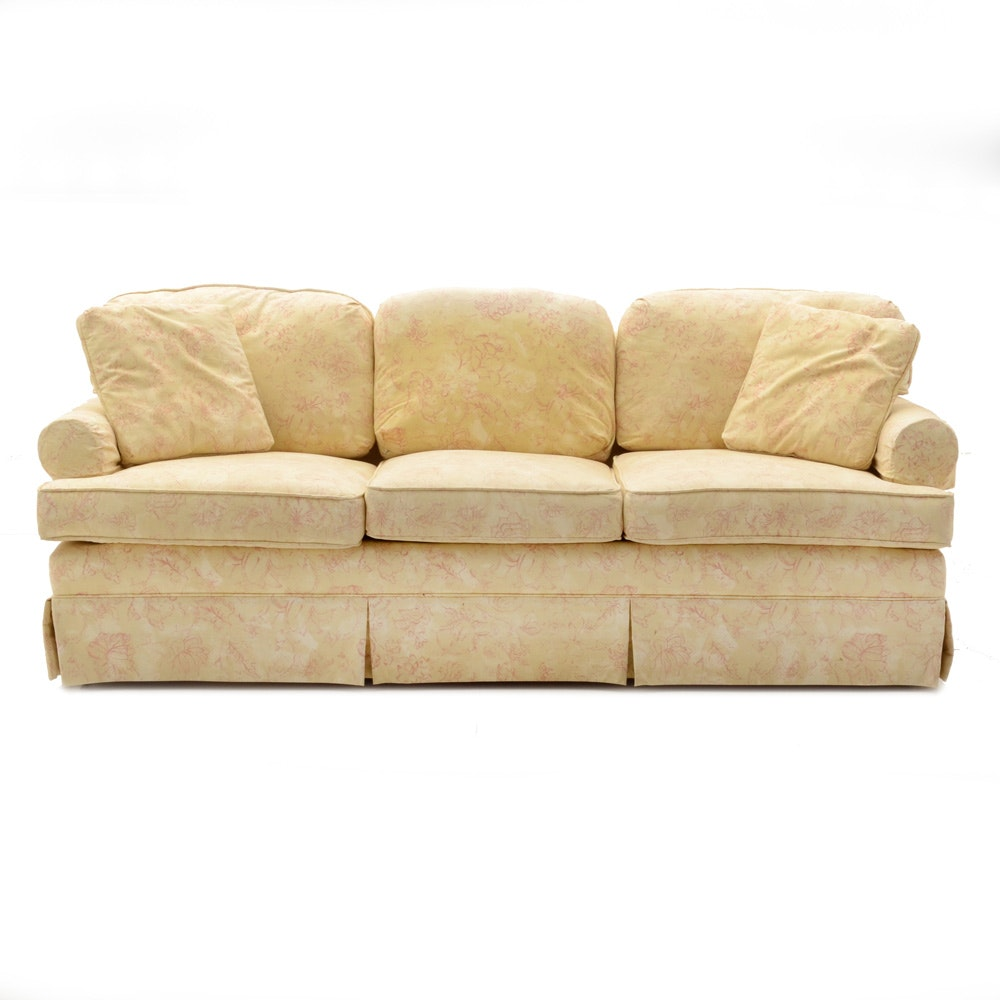Yellow Floral Sofa ...