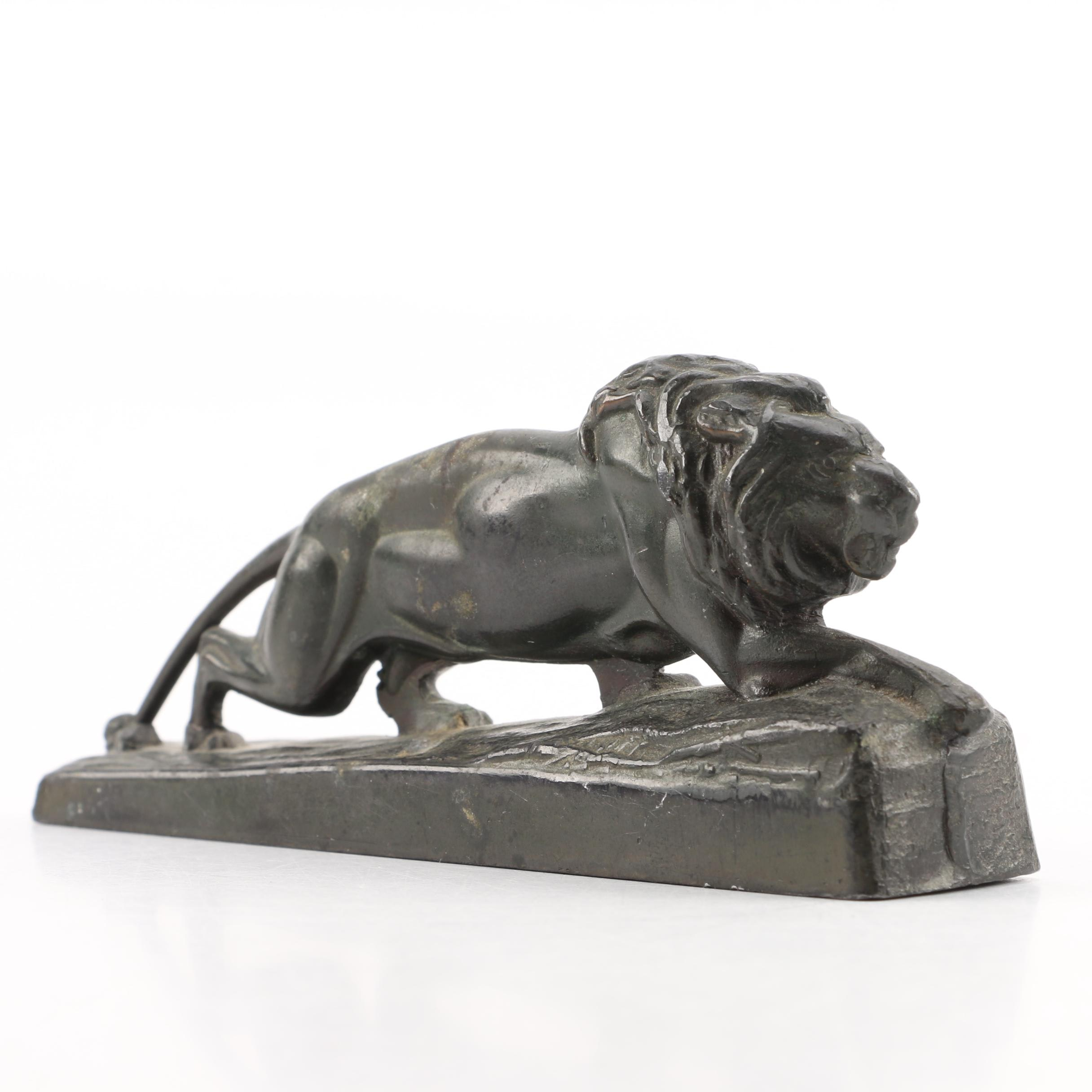 Metal Lawrence Lions Club Figurine