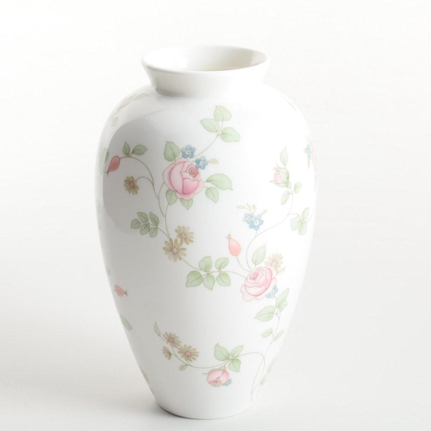 Wedgwood Rosehip Bone China Vase Ebth