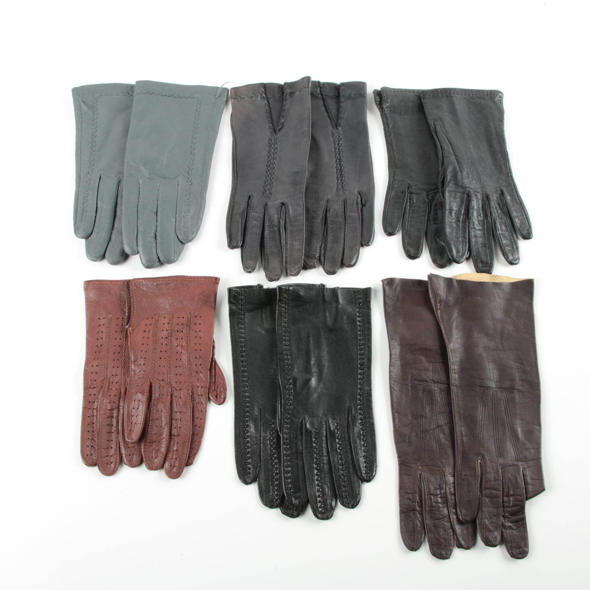Women's and Children's Leather and Silk Gloves